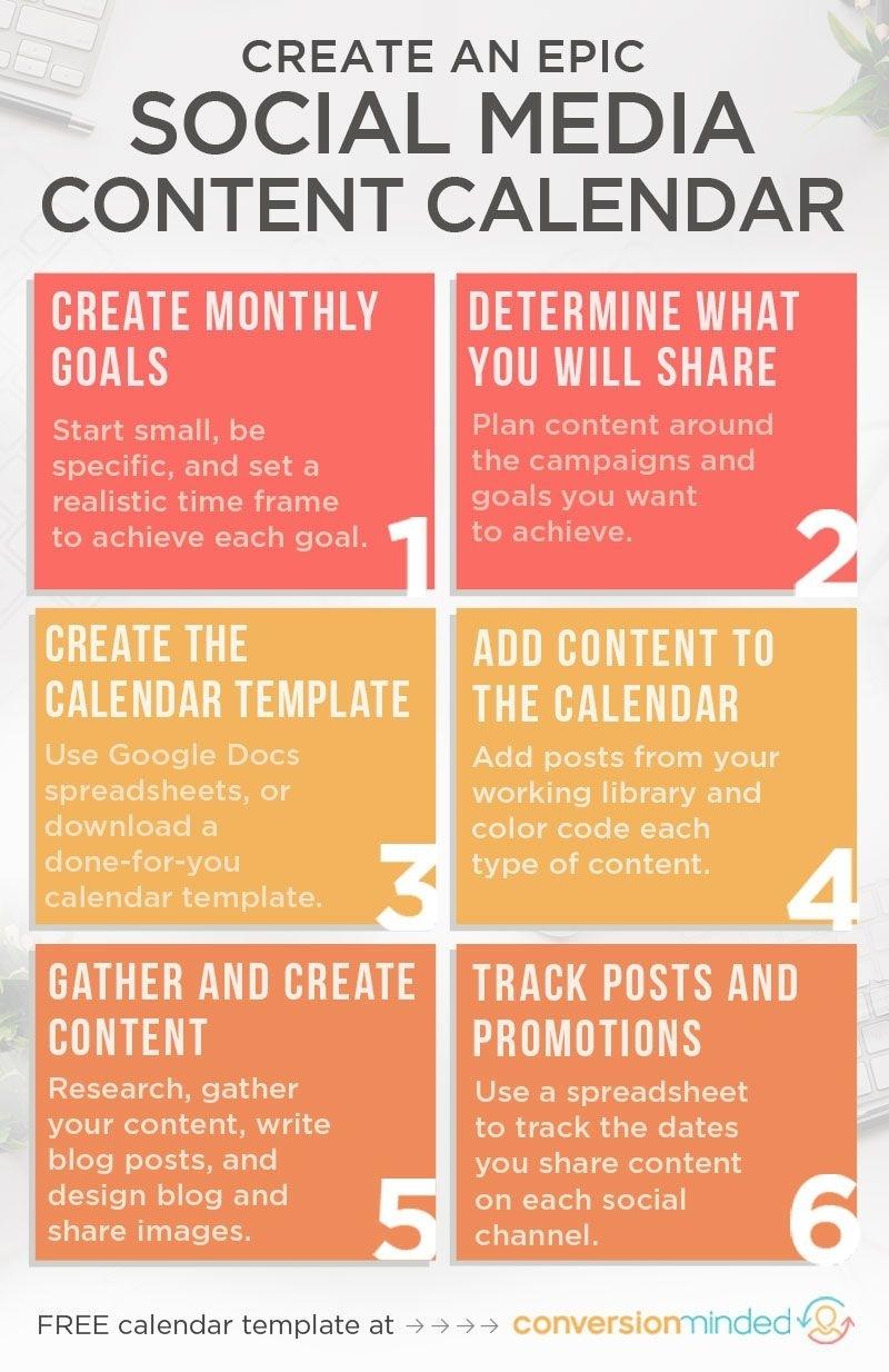 An Epic Social Media Content Calendar For 2019 (Template in Social Content Calendar Template Monthly