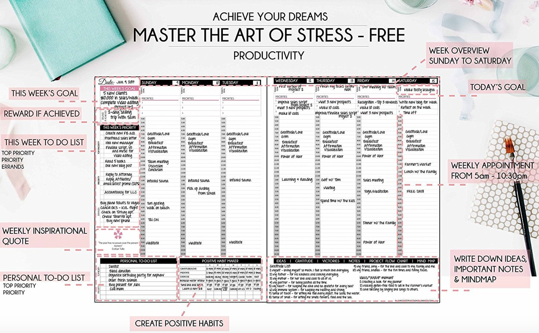 An Honest Review Of 8 Amazing Journals & Planners - Natalie Bacon inside Blank Weekly Calendar For Structured Recovery