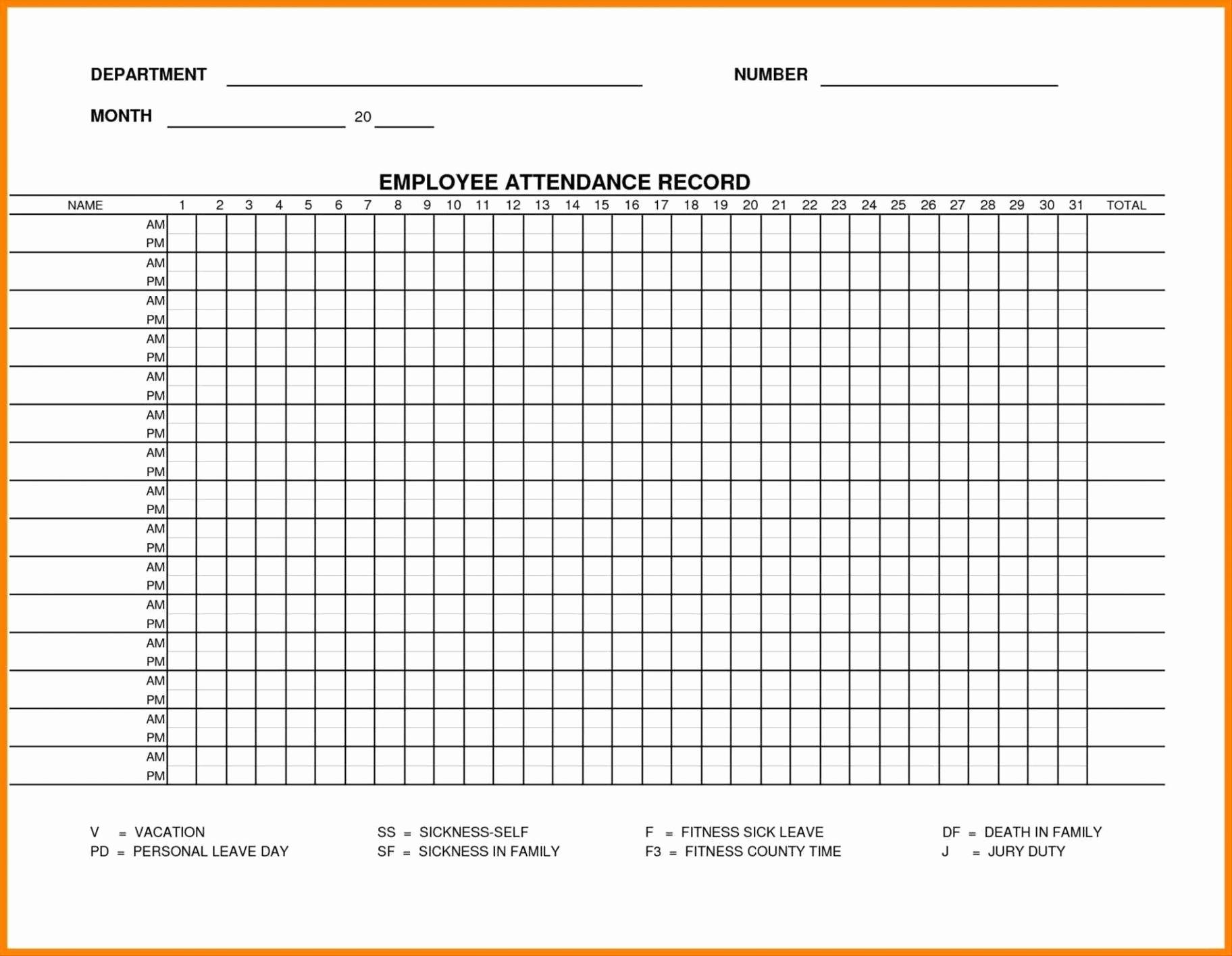 Attendance Calendar For Academic Year Free Printable Printable inside Free Printable Employee Attendance Calendars