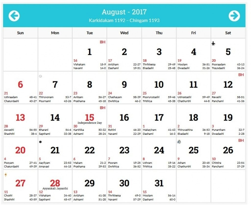 August 1996 Calendar And Malayalam Days 2018 Template Adorable At with regard to 1996 August 29 Malayalam Calendar