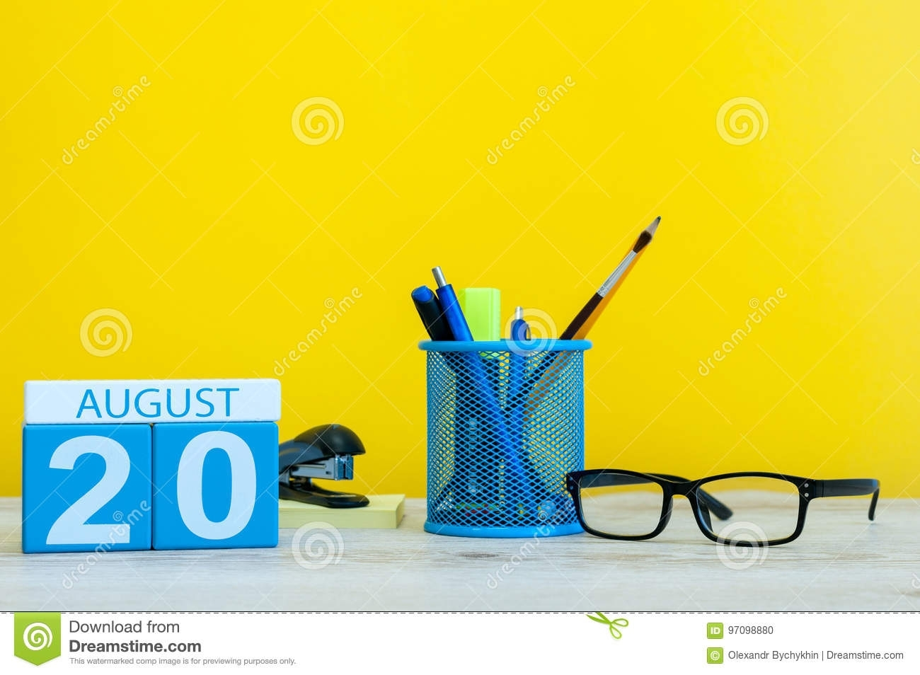 August 20Th. Image Of August 20, Calendar On Yellow Background With pertaining to Summer Picture For Birthday Calendars