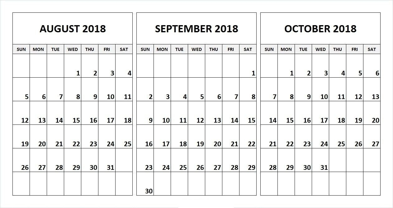 August And Sept Monthly Calendar   Template Calendar Printable for August And Sept Monthly Calendar