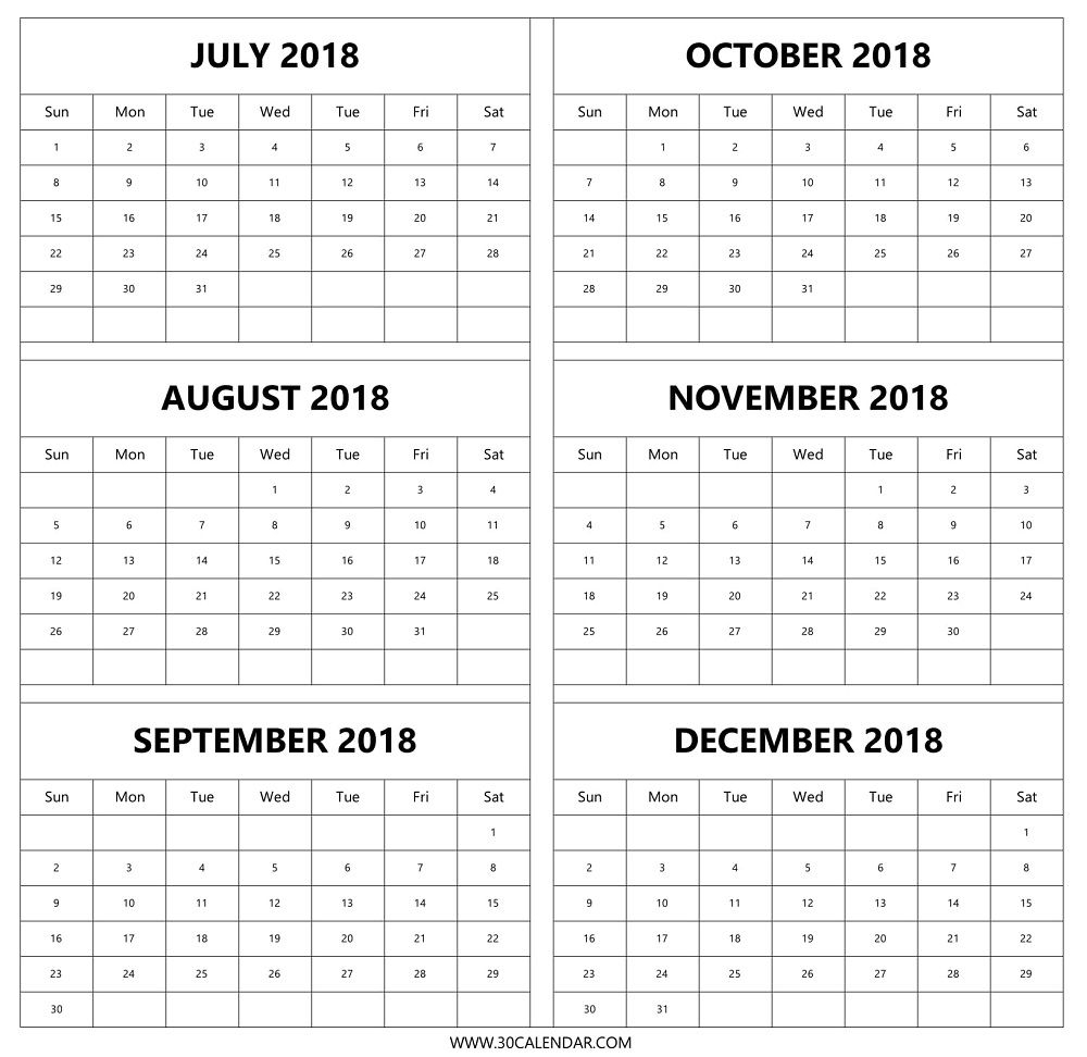 August Thru December 2018 Calendar Picture | Calendar Format Example inside Calander From August - December