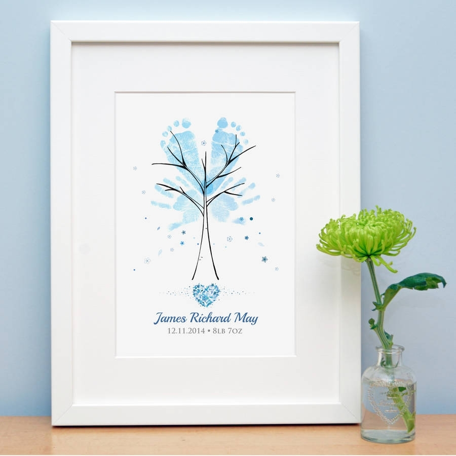 Baby Hand And Footprint Treelillypea Event Stationery with regard to Handprint Footprint With Siblings Ideas