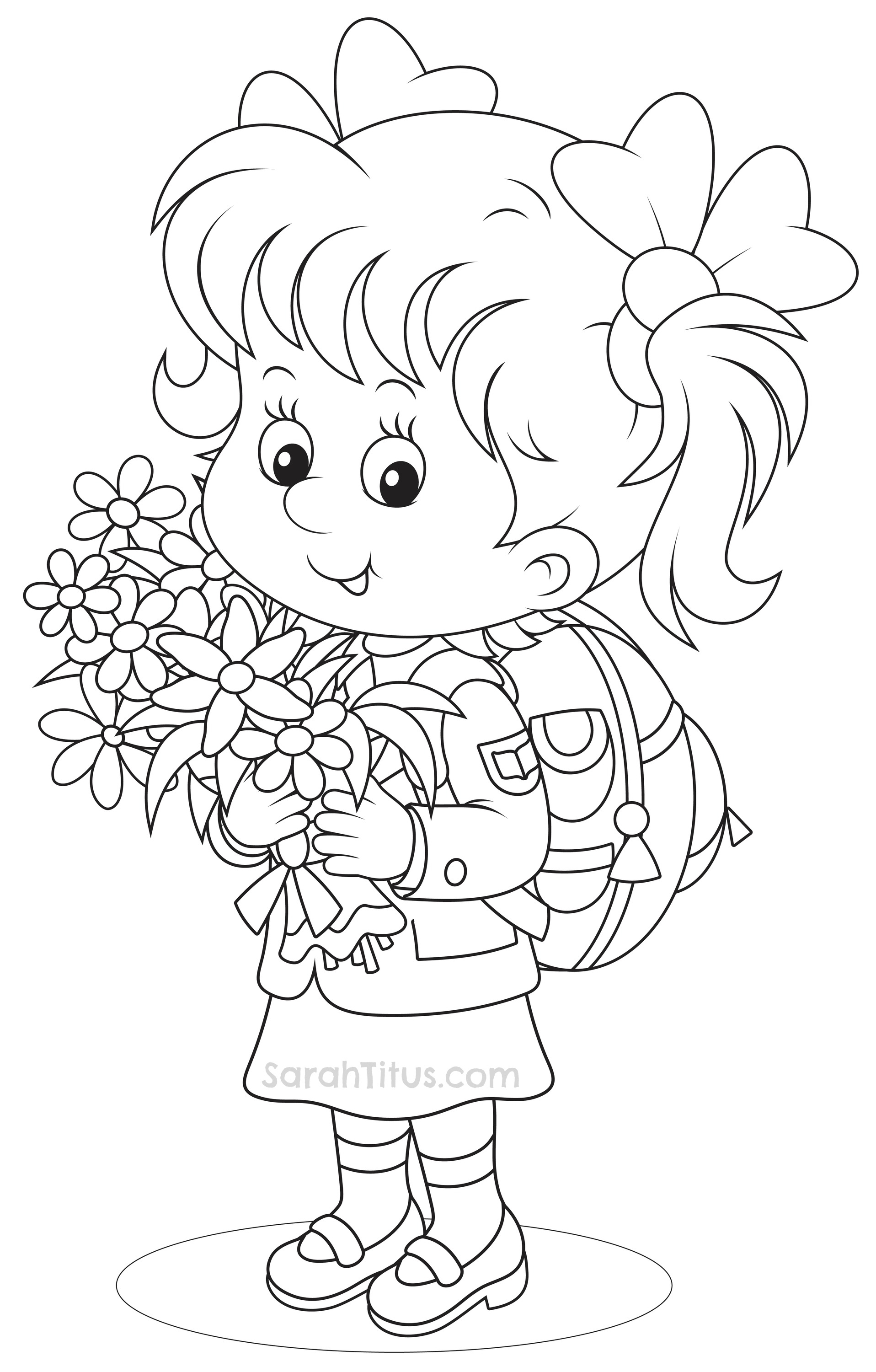 Back To School Coloring Pages - Sarah Titus pertaining to Grade R Cover Page Colouring Page