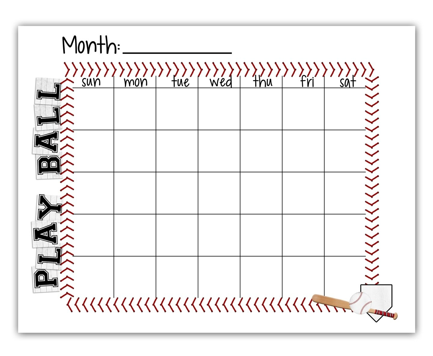 Ball Schedule - Free Printable | Baseball | Baseball, Baseball with regard to Football Theme Blank Dates Calendar