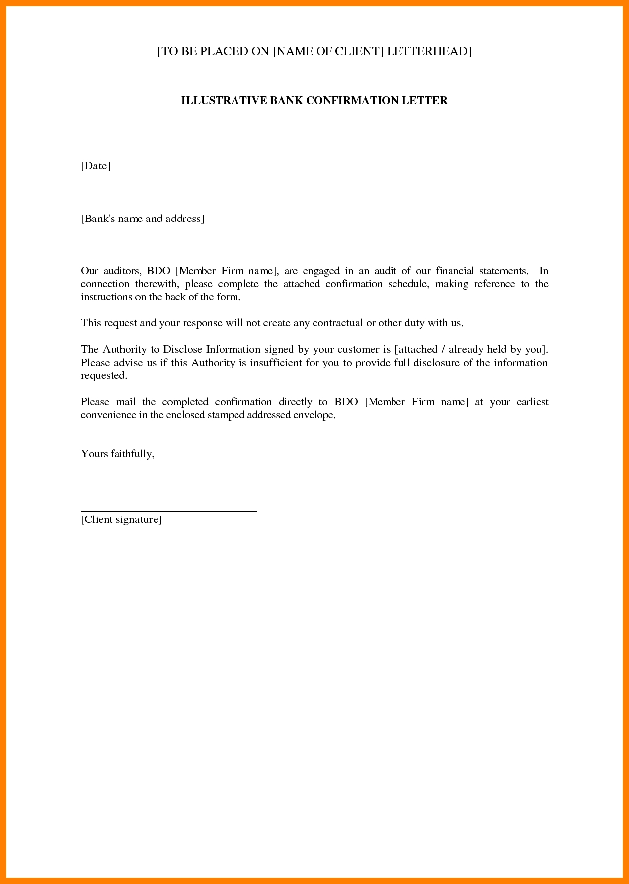 Bank Account Confirmation Letter Commerce Invoice Sample | Banks intended for Letter For Food Stamps Sample