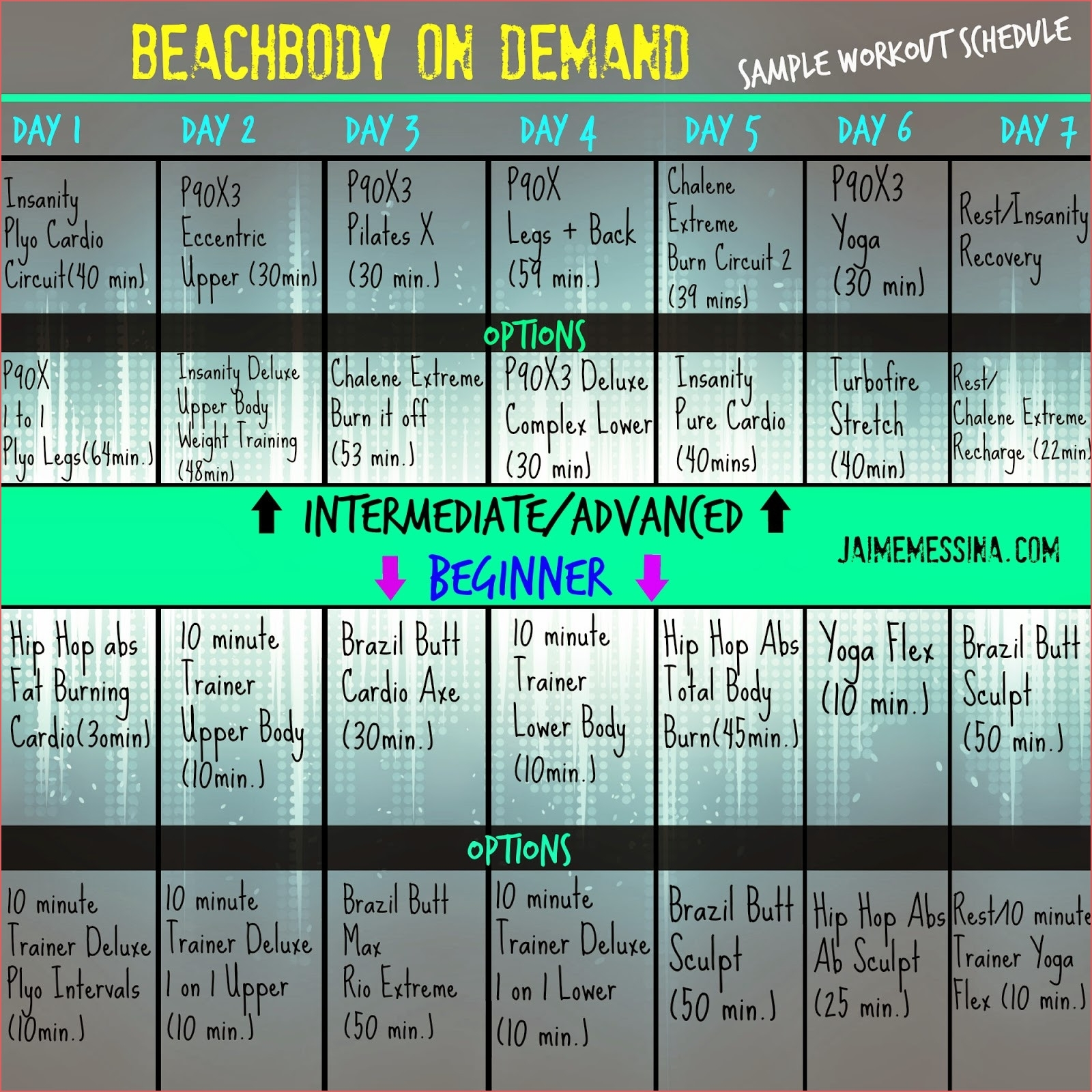 Beachbody Insanity Calendar Online Calendar Templates Printable for Hip Hop Abs Calendar Pdf