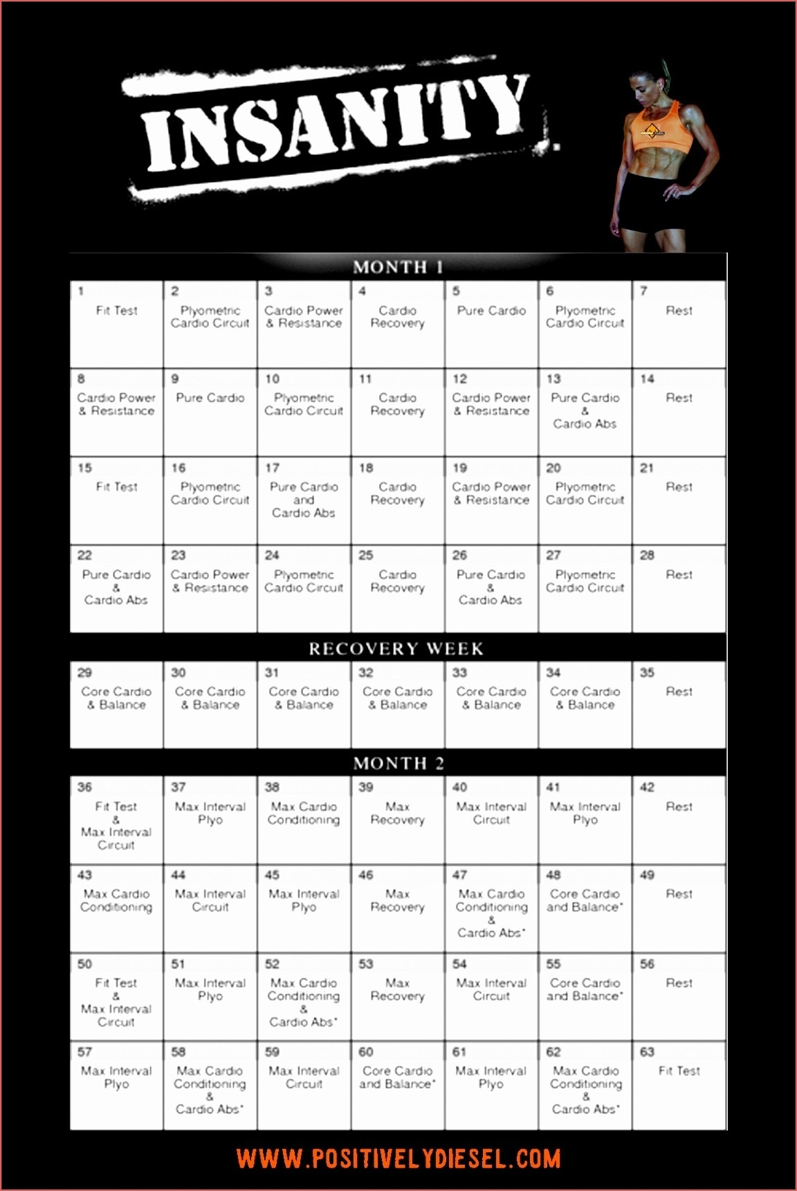 Beachbody Insanity Calendar Online Calendar Templates Printable with regard to The Insanity 60 Day Wall Calendar