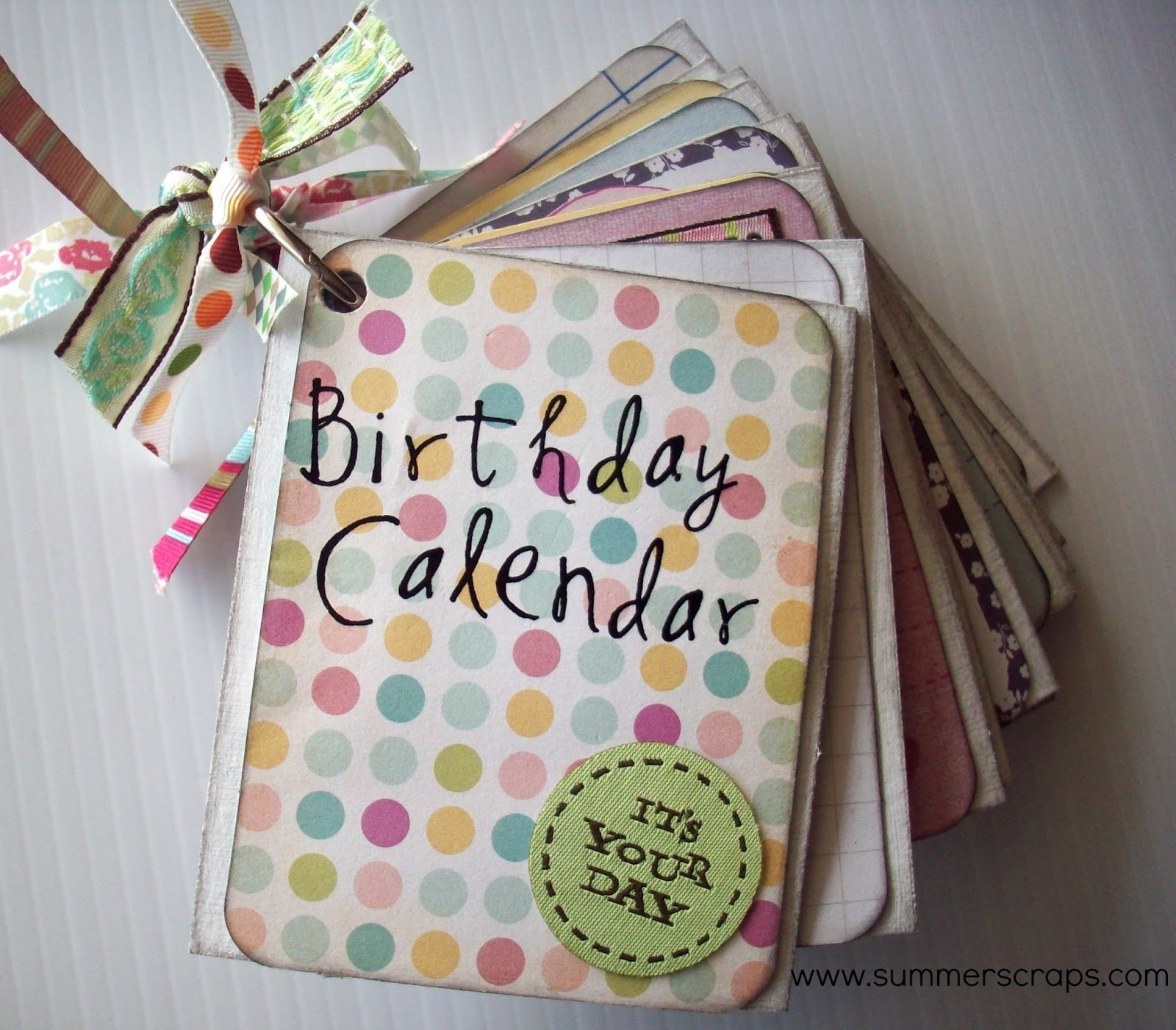 Birthday Calendar Mini Book With Project Life 5Th & Frolic Kit pertaining to Summer Picture For Birthday Calendars