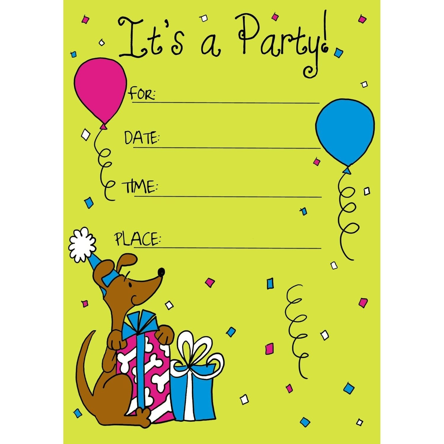 Birthday Invitation Card For Child | Ideas For The House | Birthday with regard to Free Templates Online For Children