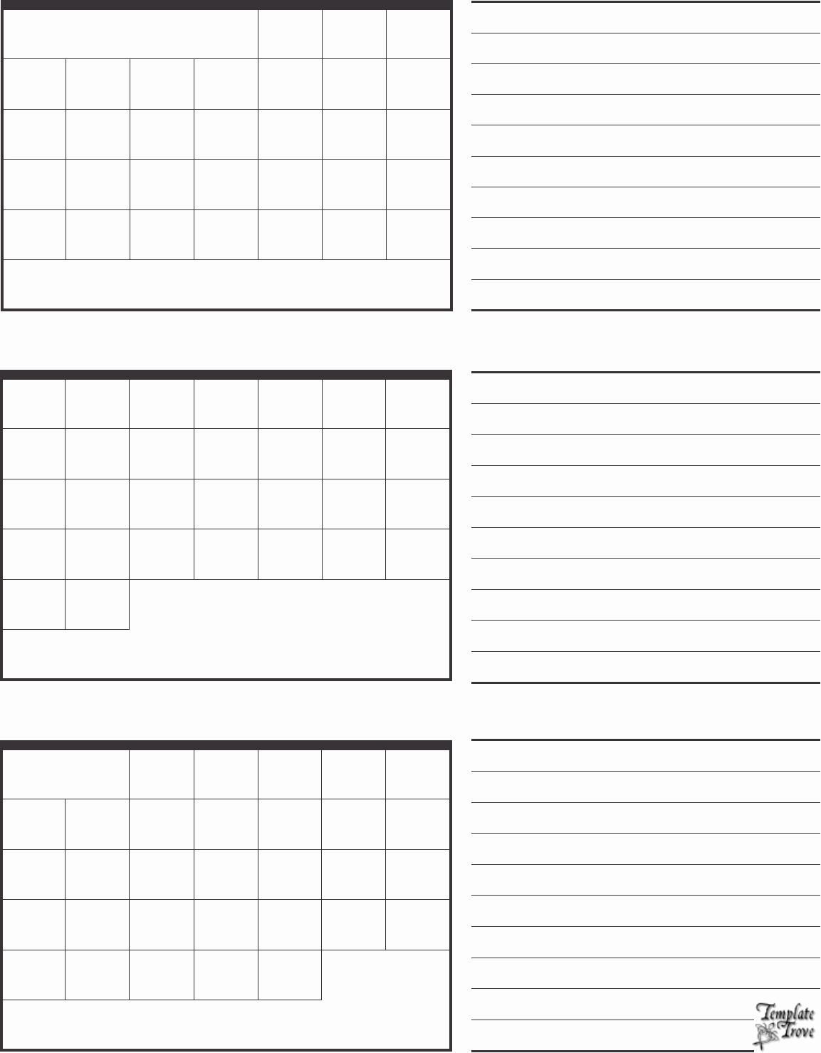 Blank 3 Month Calendar Template | Template Calendar Printable for 3 Month Printable Calendar Template
