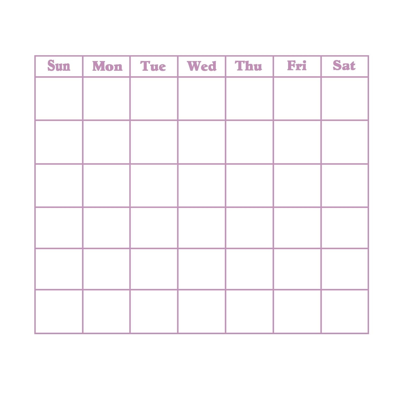 Blank 31 Day Calendar | Thegioithamdep with regard to Grid Of 31 Days Image