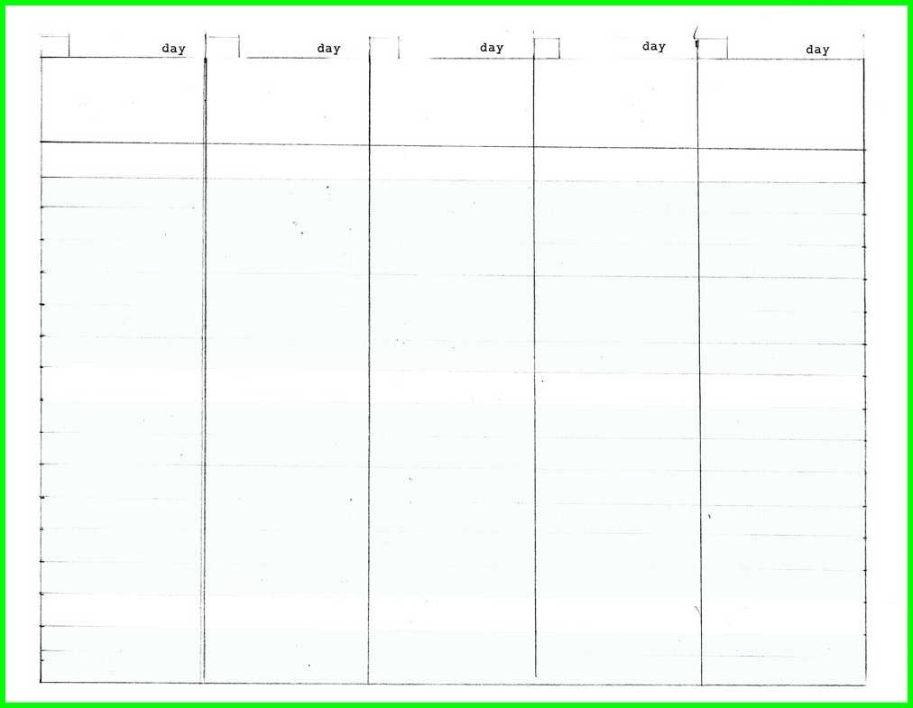 Blank 5 Day Calendar Template | Thegioithamdep intended for Blank Calendar Template 5 Day
