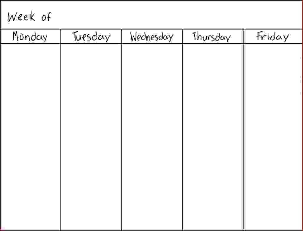 Blank 7 Day Calendar Calendar 2017 Printable – Printable Calendar inside Blank 7 Day Week Calendar