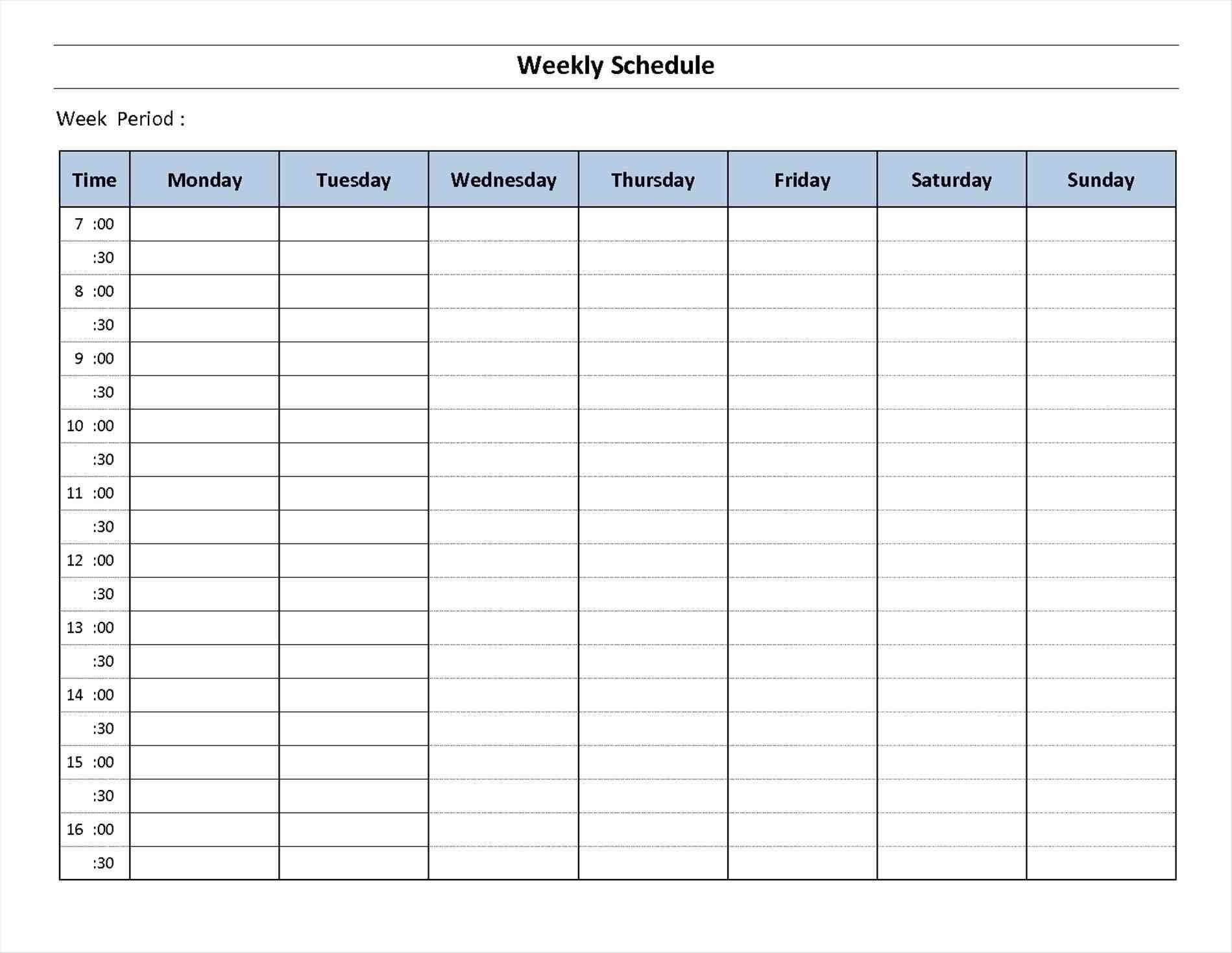 Blank 7 Day Week Calendar | Template Calendar Printable inside 7 Day Week Blank Calendar Printable