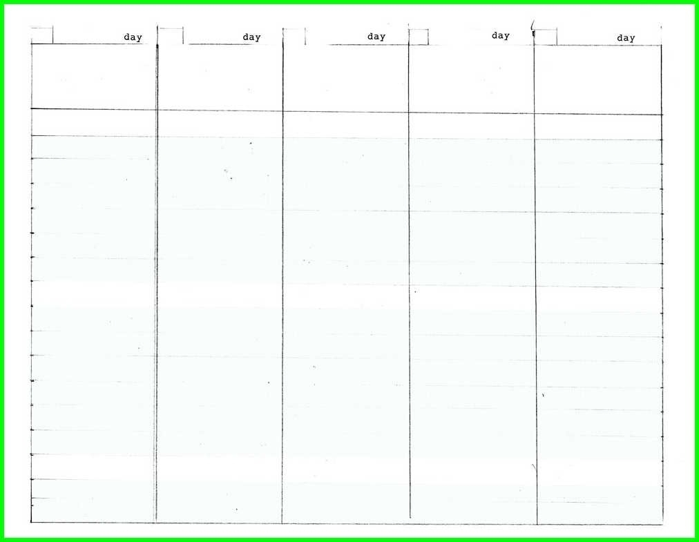 Blank Calendar 5 Day Week | Template Calendar Printable pertaining to 5 Day Weekly Schedule Template