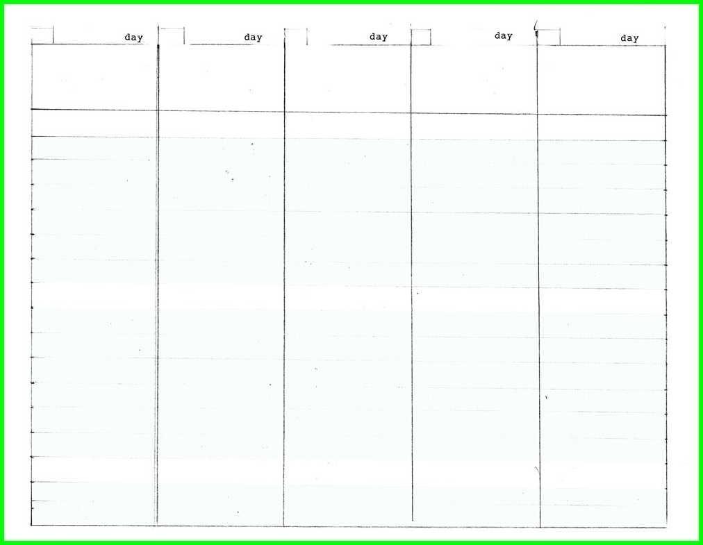 Blank Calendar 5 Day Week   Template Calendar Printable regarding 5 Day Week Calendar Printable