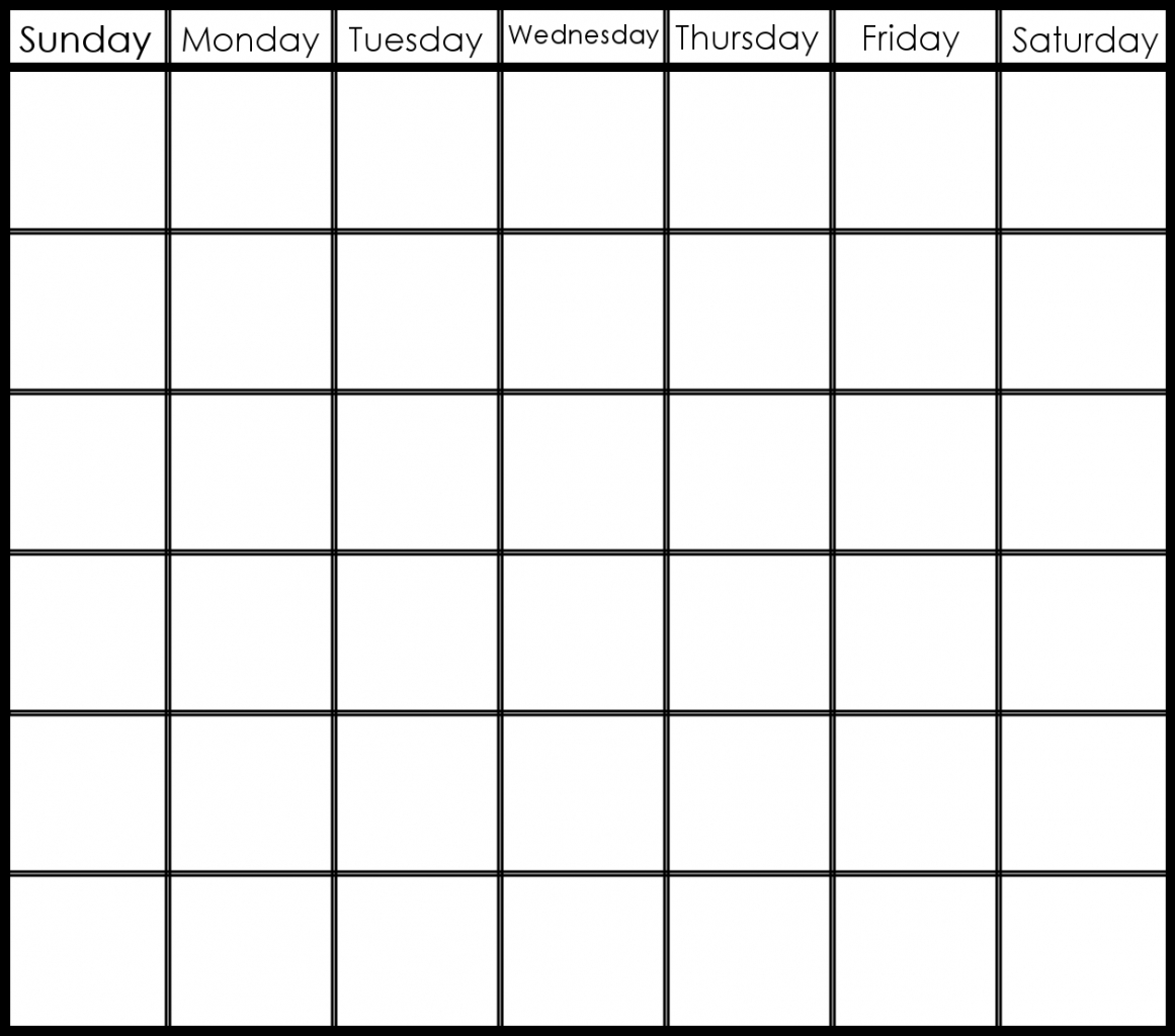 Blank Calendar 6 Weeks Start On Sunday | Template Calendar Printable intended for Blank Calendar 6 Weeks Start On Sunday