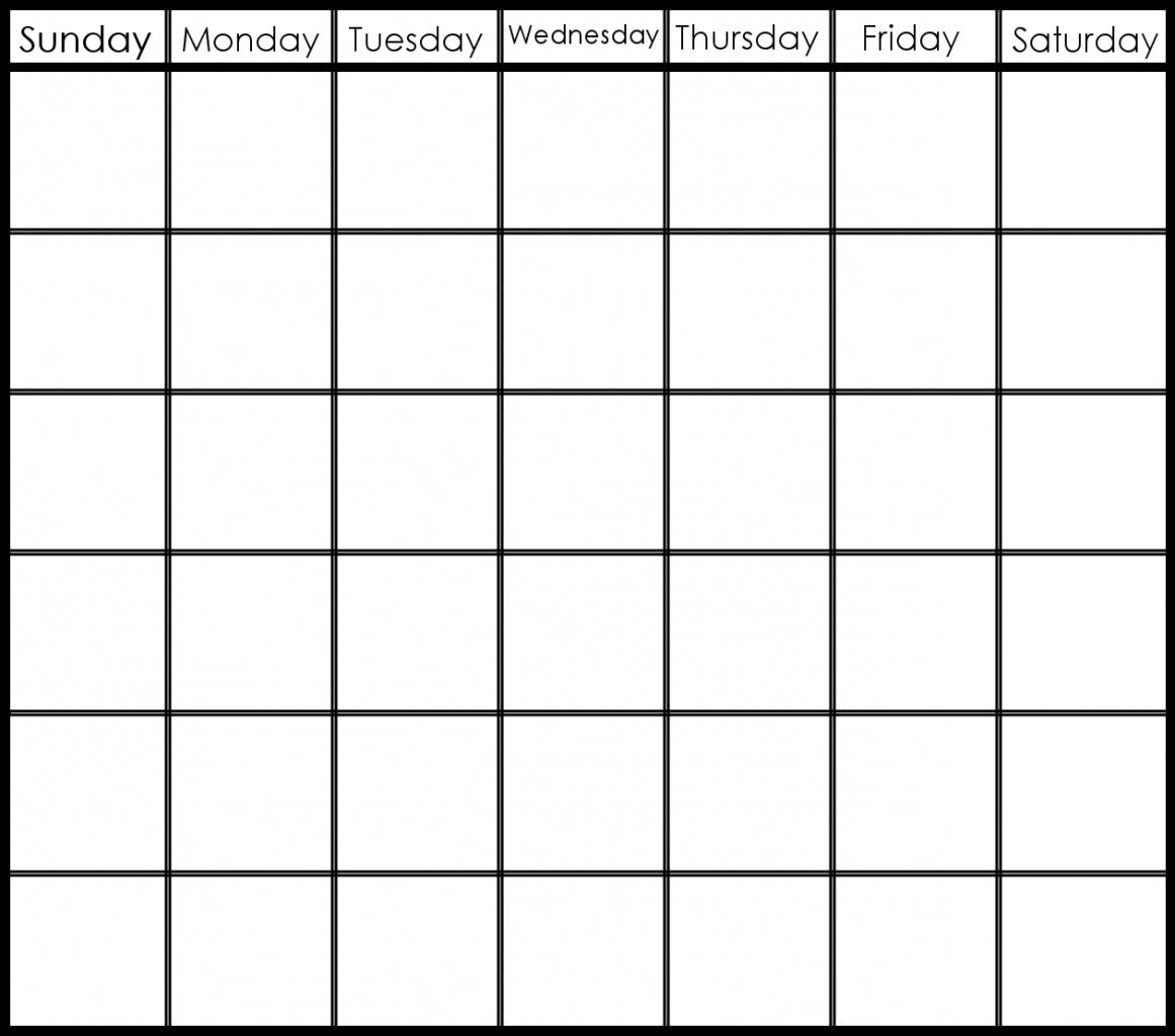 Blank Calendar 6 Weeks Start On Sunday | Template Calendar Printable with regard to Blank 6 Week Calendar Template