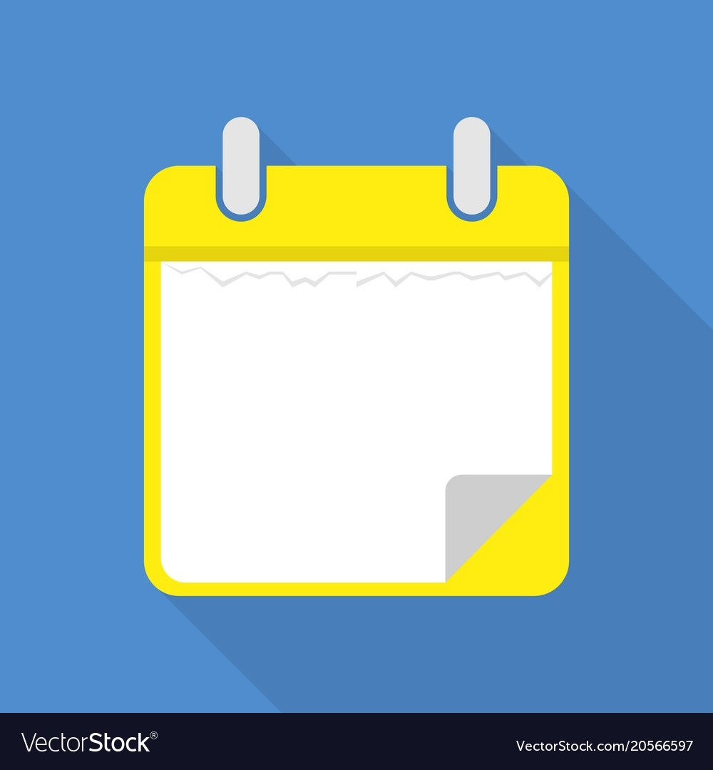 Blank Calendar Icon Flat Style Royalty Free Vector Image for Free Images Generic Calendar Icon
