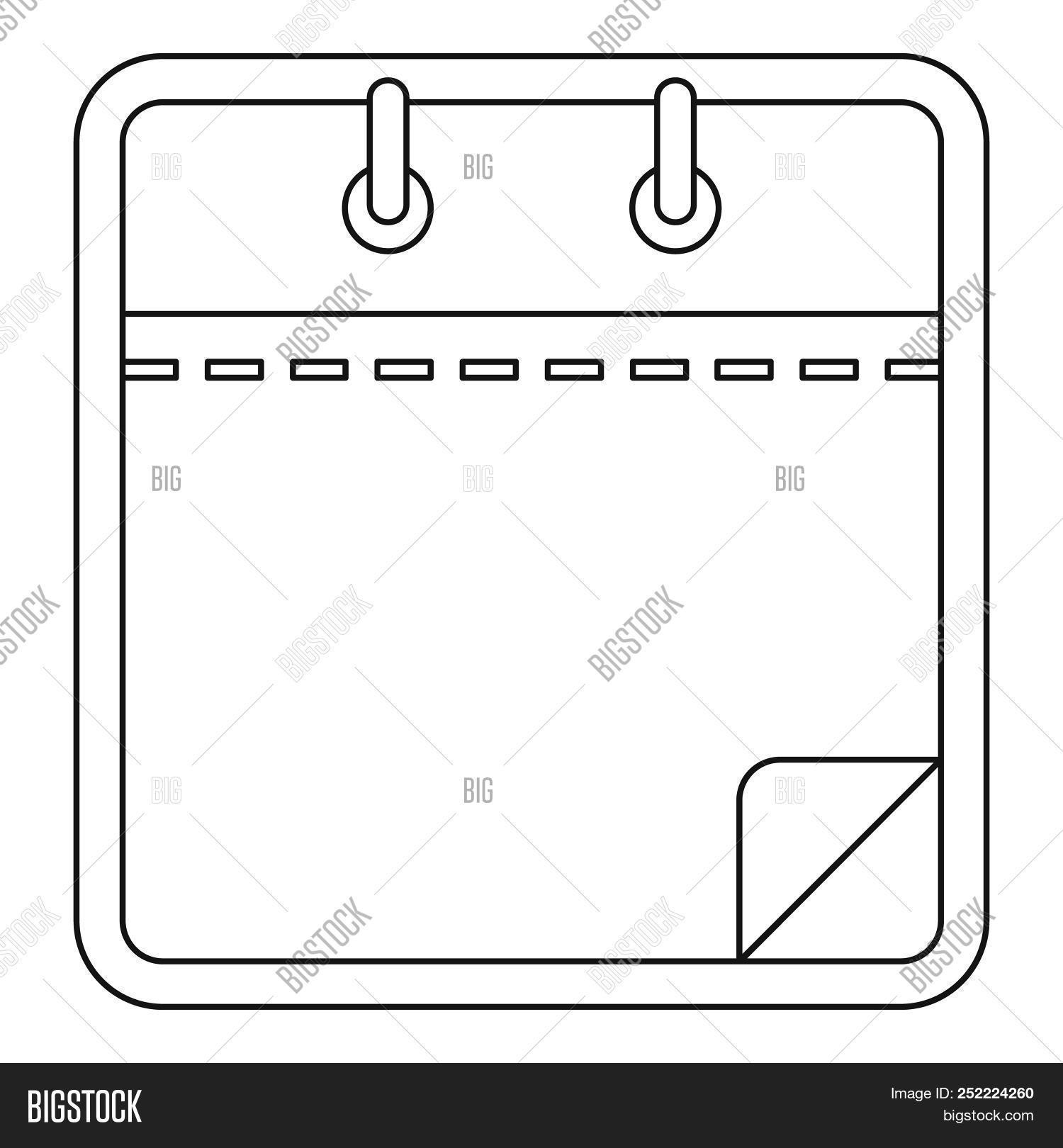 Blank Calendar Icon. Image & Photo (Free Trial) | Bigstock regarding Free Images Generic Calendar Icon