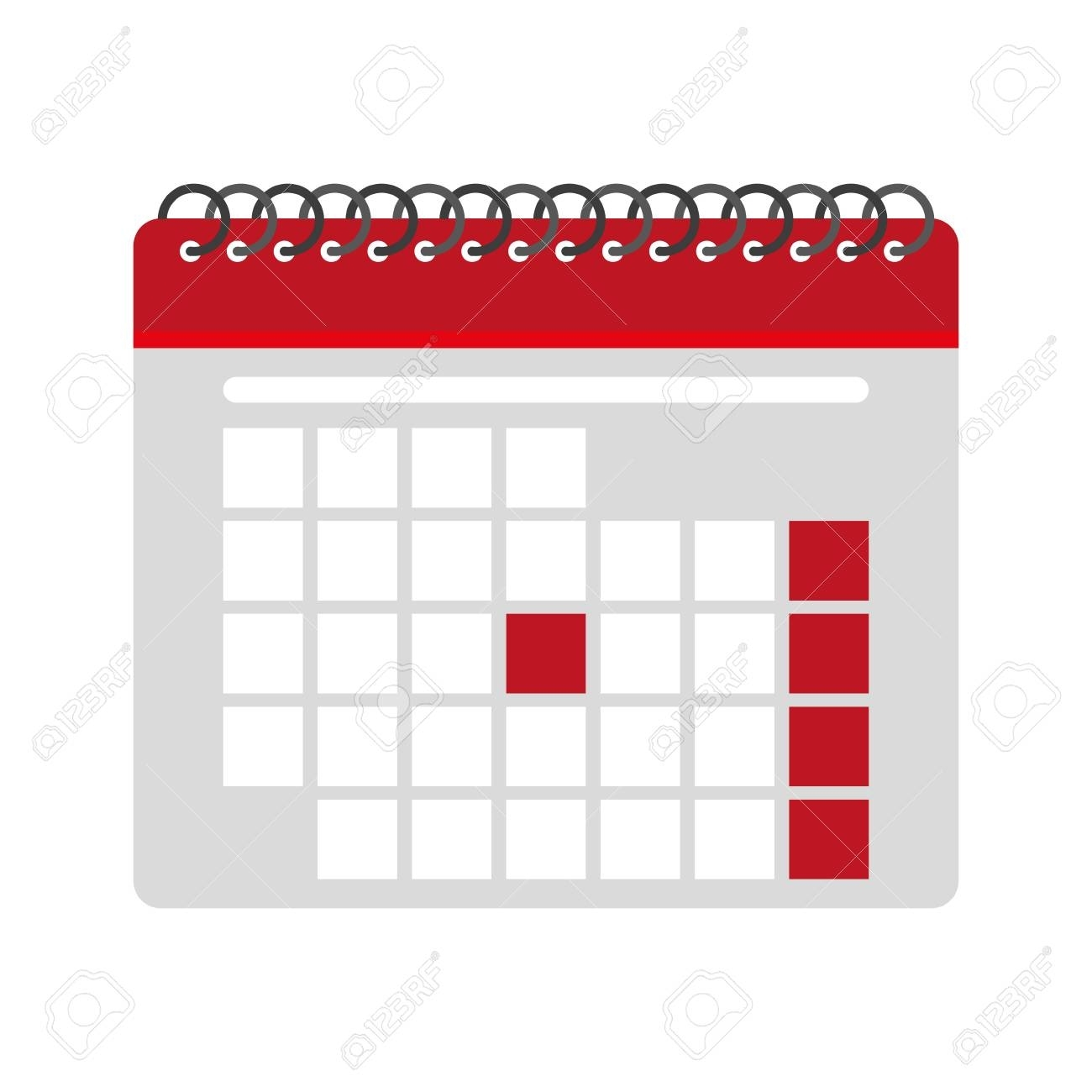 Blank Calendar Icon Image Vector Illustration Design Royalty Free intended for Free Images Generic Calendar Icon