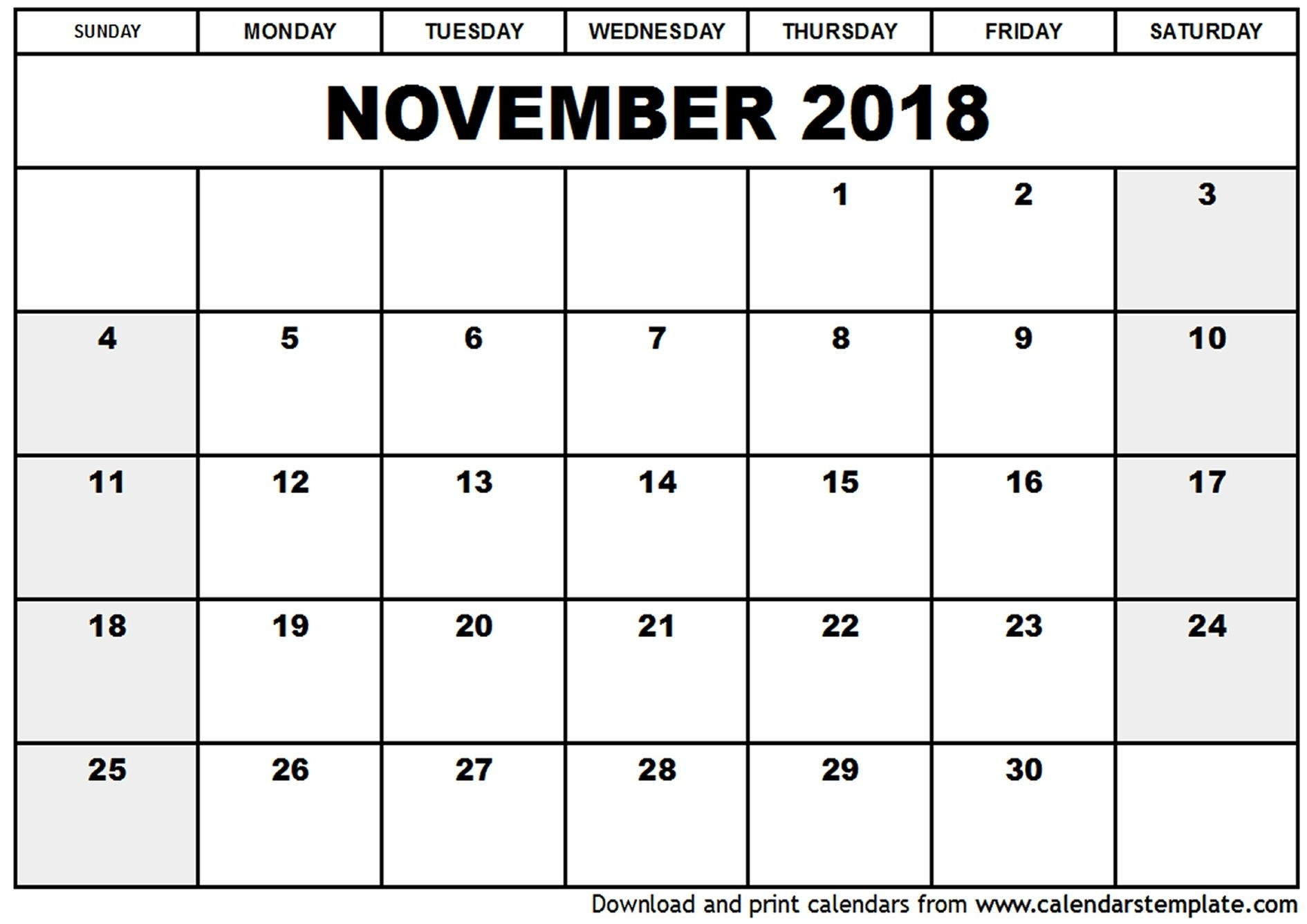 Blank Calendar October November December 2018 | Calendar Format Example with regard to Blank Calendar For November And December
