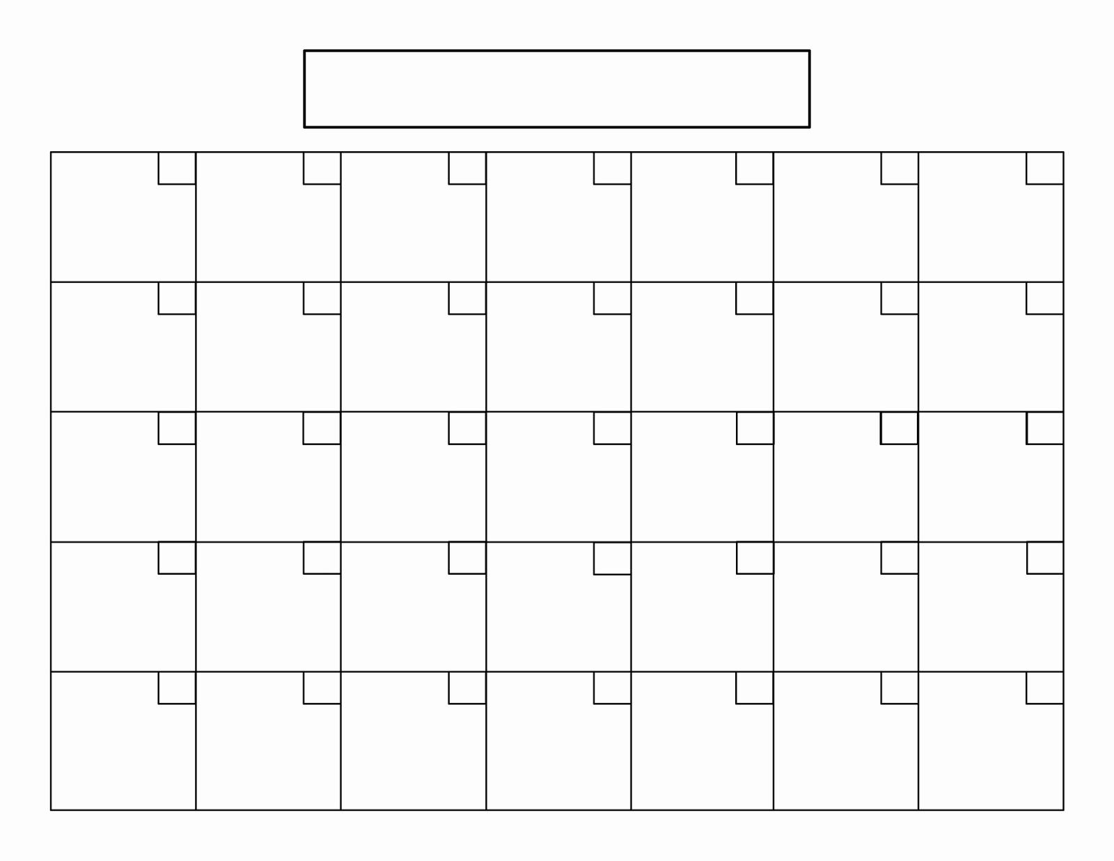 Blank Calendar Print Out Blank Free Printable Blank Calendar with Printable Blank Monthly Calendar Template