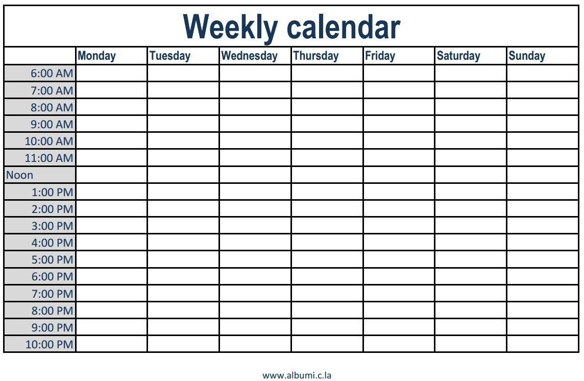 Blank Calendar Schedule Knicks Printable Mplate Monthly Weekly Pdf throughout Blank Weekly Hourly Calendar 8-10