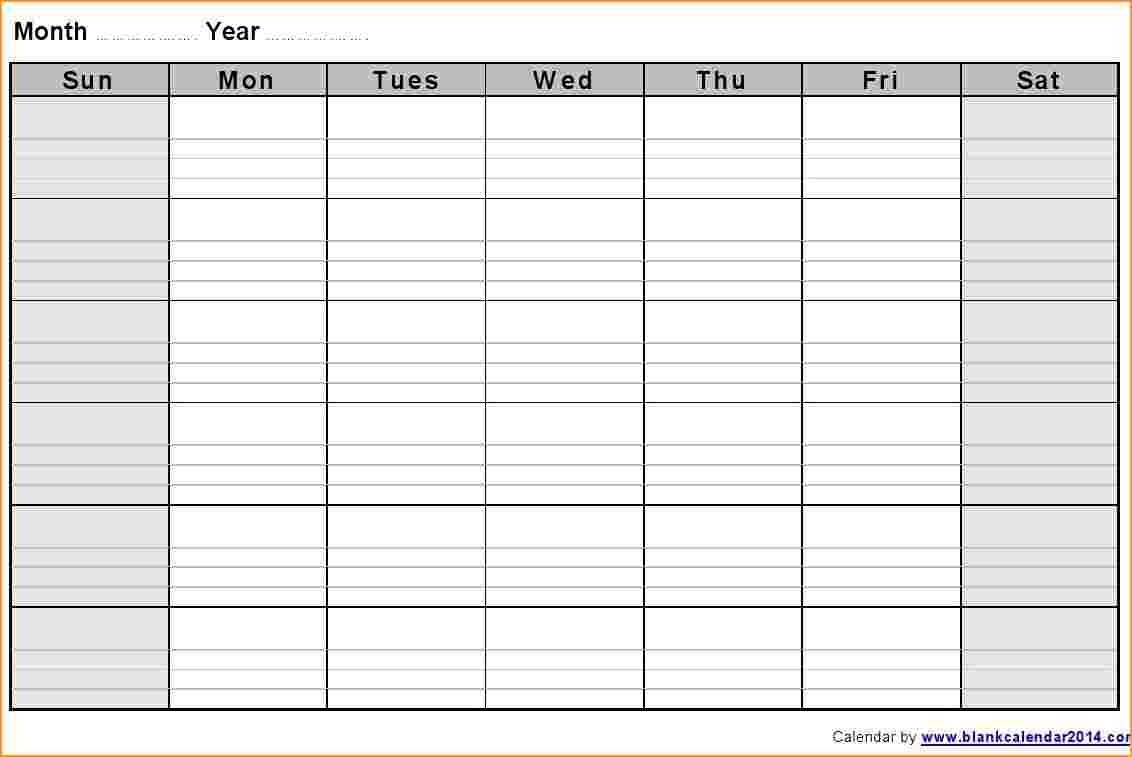 Blank Calendar Template Monthly Notes Landscape 2 Jpg Extraordinary in Blank Calendar Template With Notes
