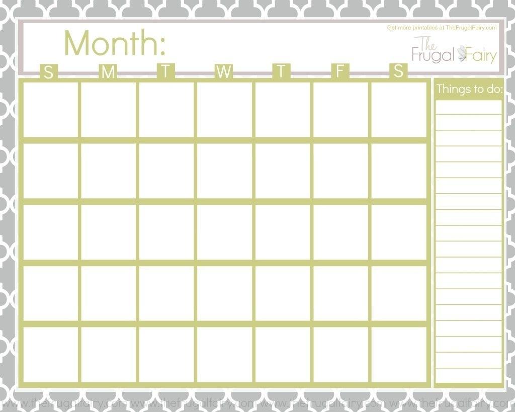 Blank Calendar Tff | Fonts | Blank Calendar, Printable Blank inside Blank Bill Calendar Printable Colorful