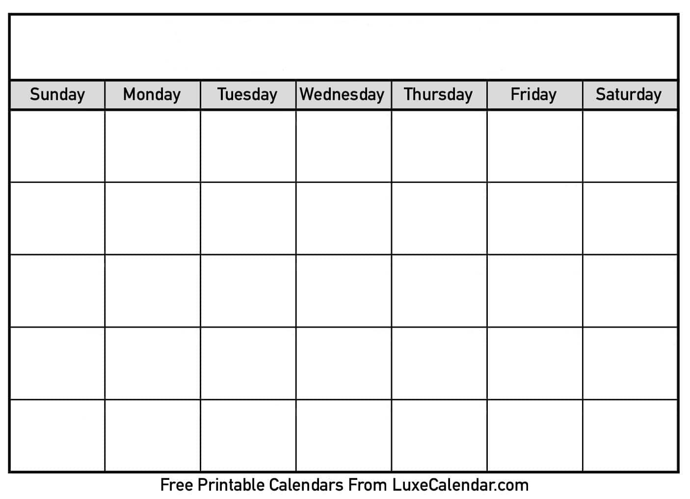 Blank Calendar With Times Ble Luxe Monday Through Friday Weekly Time throughout Monday Through Friday Calendar With Times