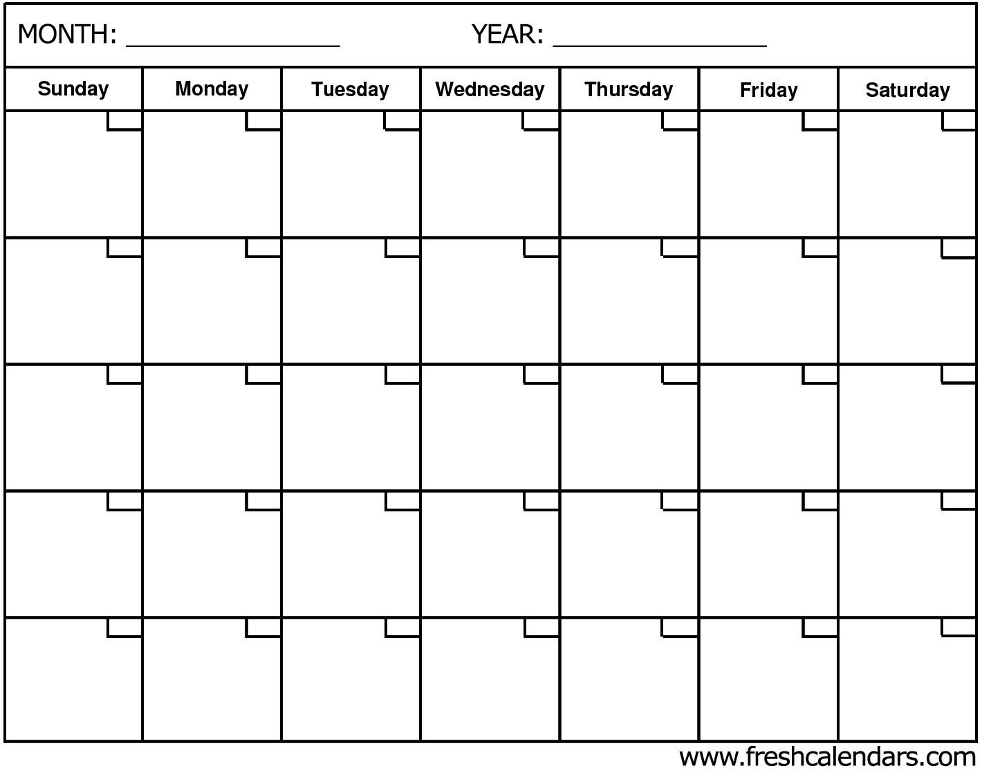 Blank Calendar: Wonderfully Printable 2019 Templates in Blank Calendar For A Month