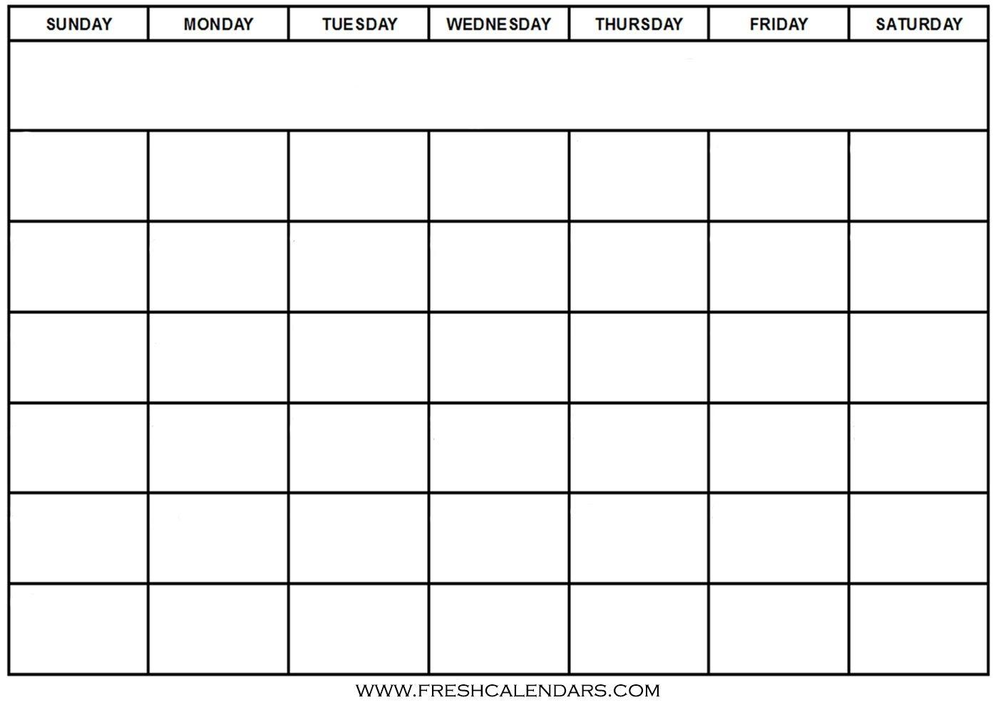 Blank Calendar: Wonderfully Printable 2019 Templates in Fill In Blank Calendar Templates