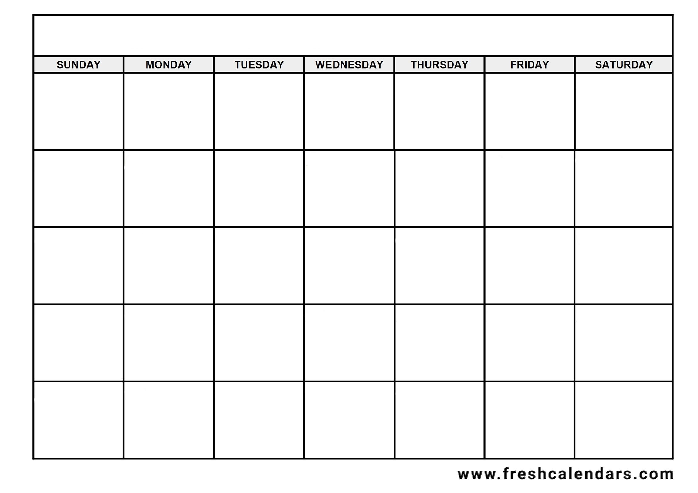 Blank Calendar: Wonderfully Printable 2019 Templates inside Days Of The Week Printable Calendar