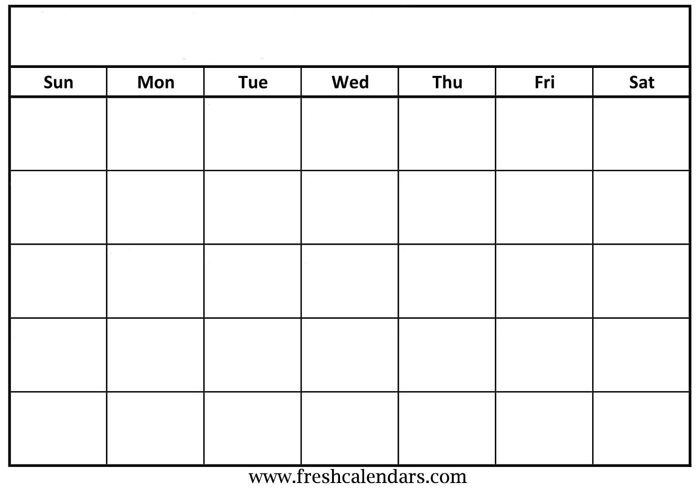 Blank Calendar: Wonderfully Printable 2019 Templates intended for Blank Monthly Calendar Printable Template