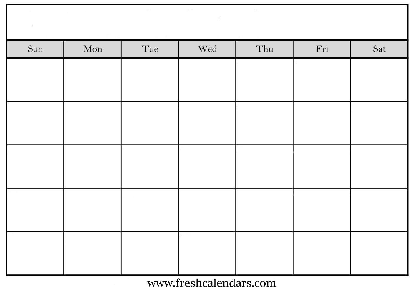 Blank Calendar: Wonderfully Printable 2019 Templates intended for Fill In Blank Calendar Templates