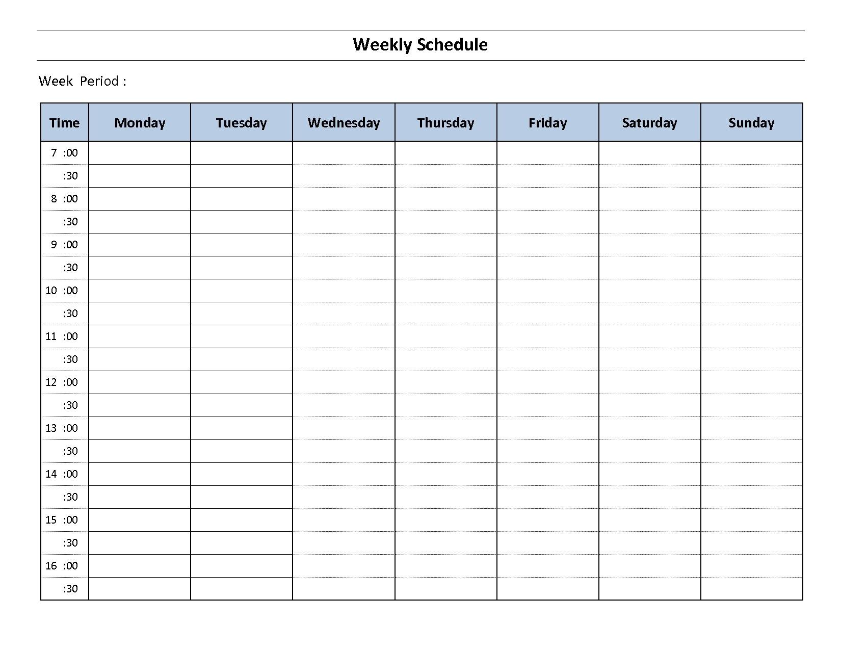 Blank Day Calendar - Maco.palmex.co throughout Free Seven Day Printable Calendar