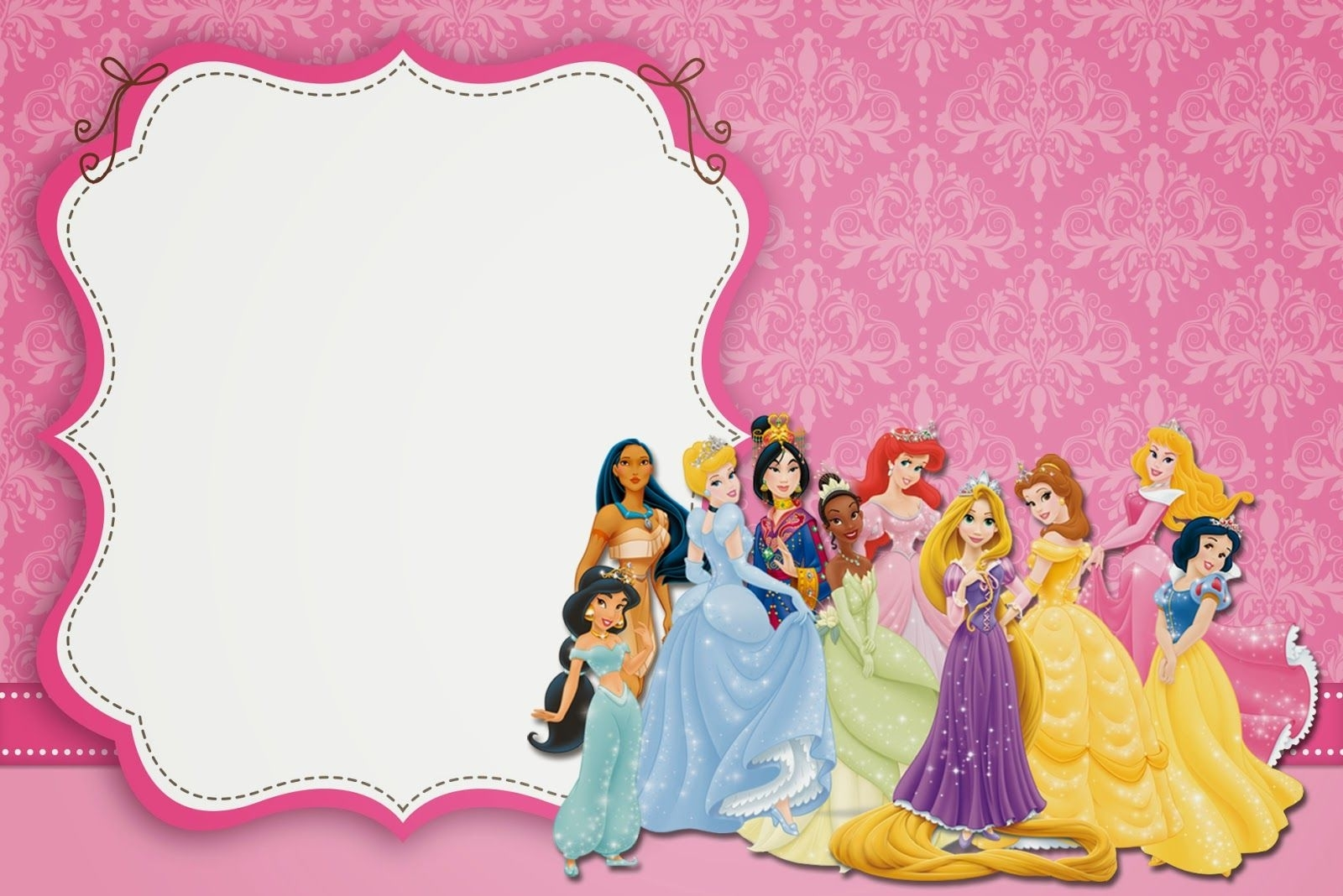 Blank Disney Princess Invite - Google Search | Disney Princesses regarding Disney Princess Letter Head Templates Free