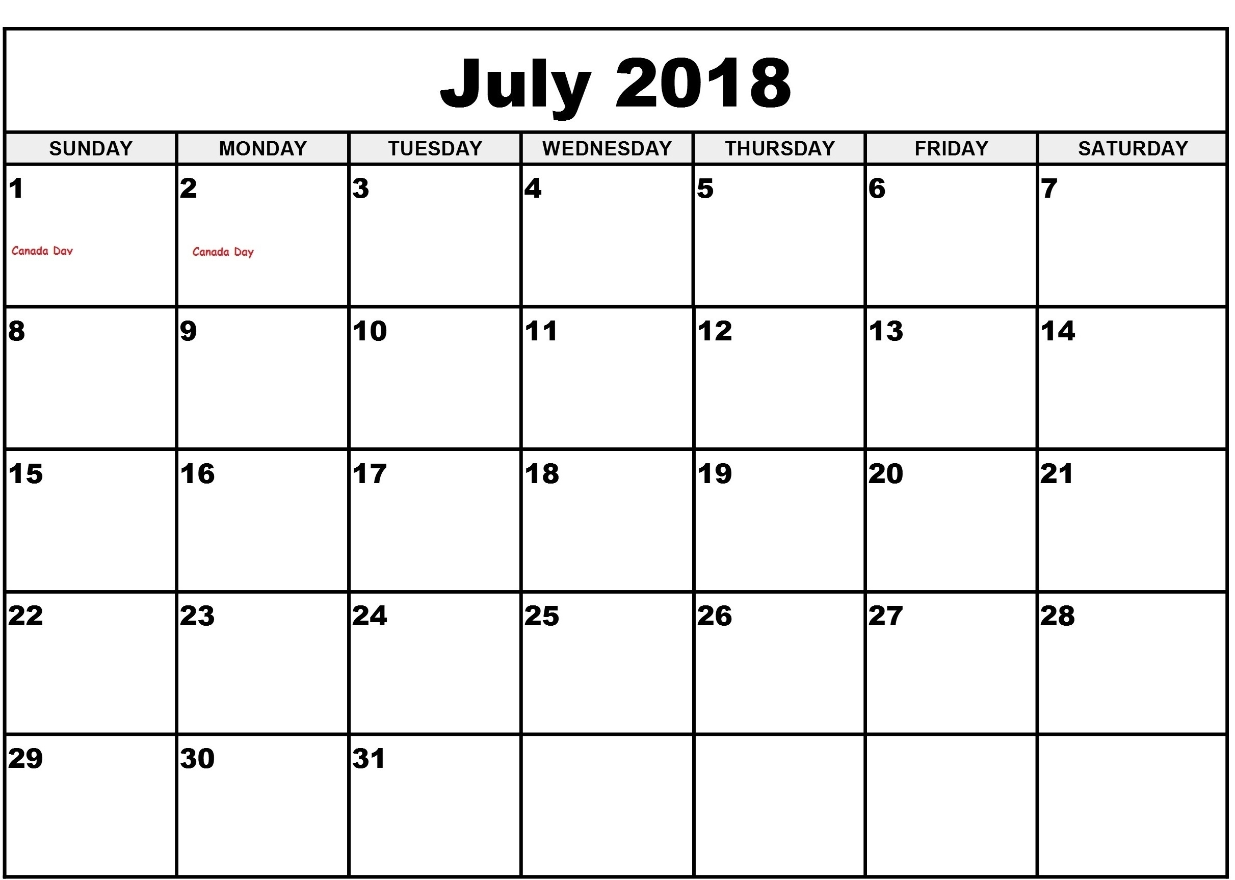 Blank July Calendar Day Slots | Template Calendar Printable inside Blank July Calendar Day Slots