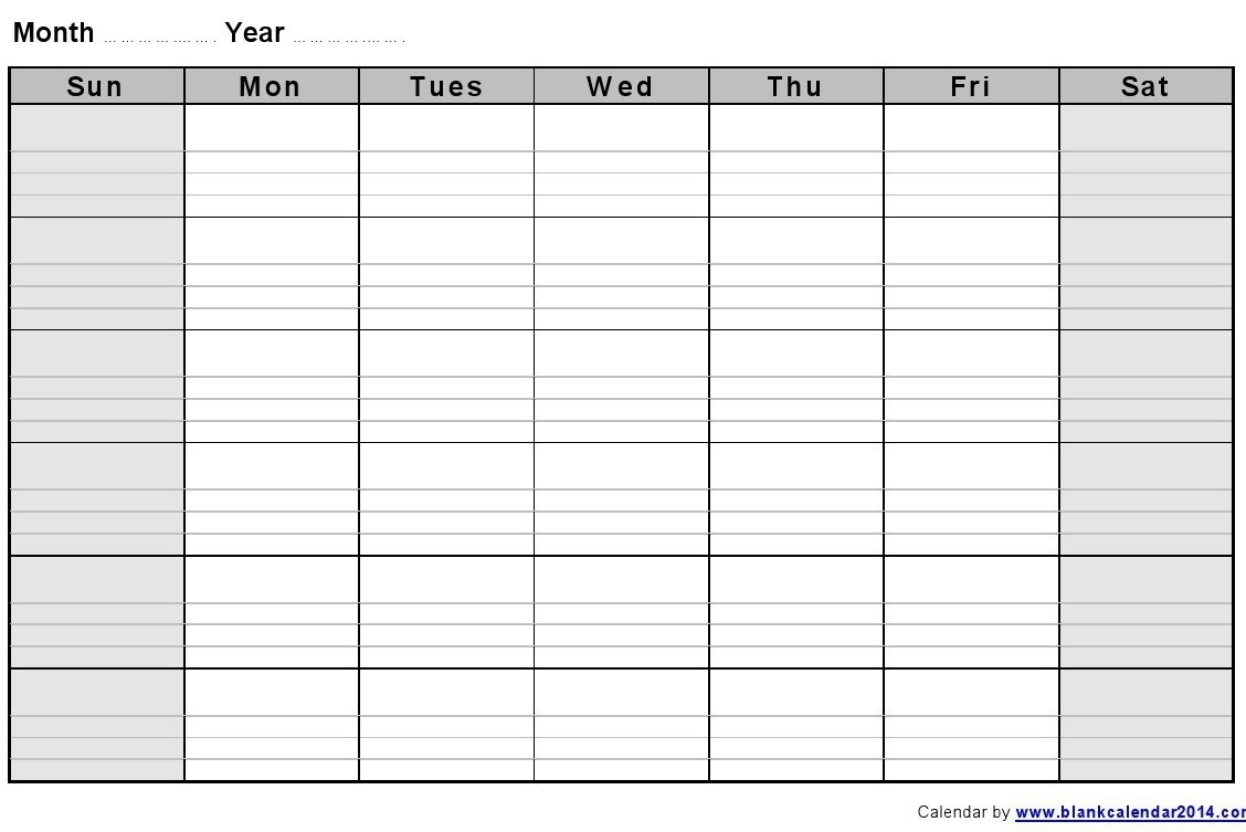 Blank Monthly Calendar Template Word Great Printable Calendars with Blank Monthly Calendar Printable With Lines
