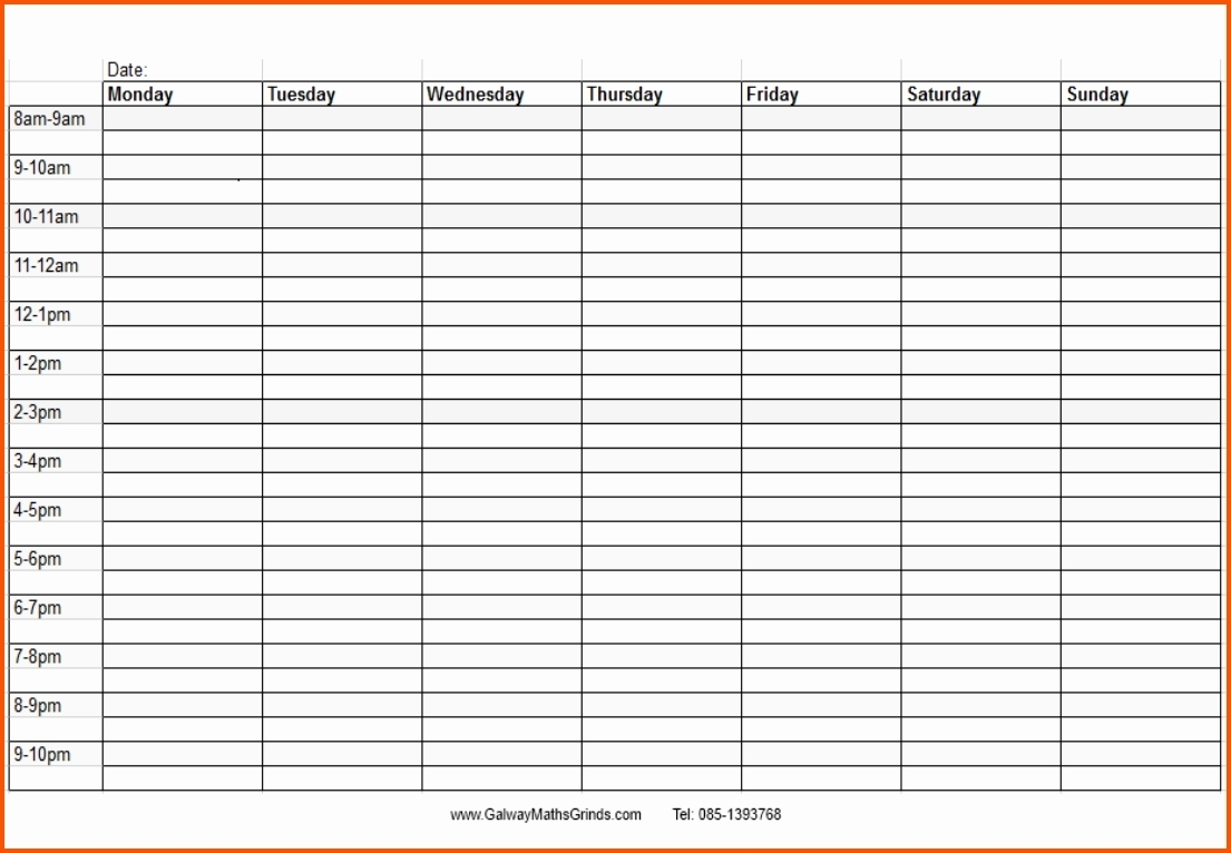 Blank Monthly Calendar With Times Template Time And Date Daily Slots intended for Blank Time And Date Calendar