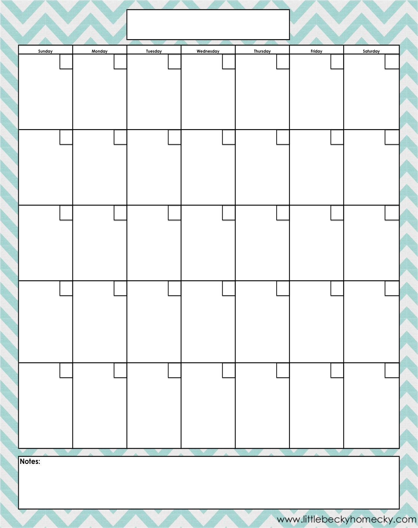 Blank Monthly Calendars To Print Free Calendar 2018 Printable with Full Size Printable Monthly Calendars
