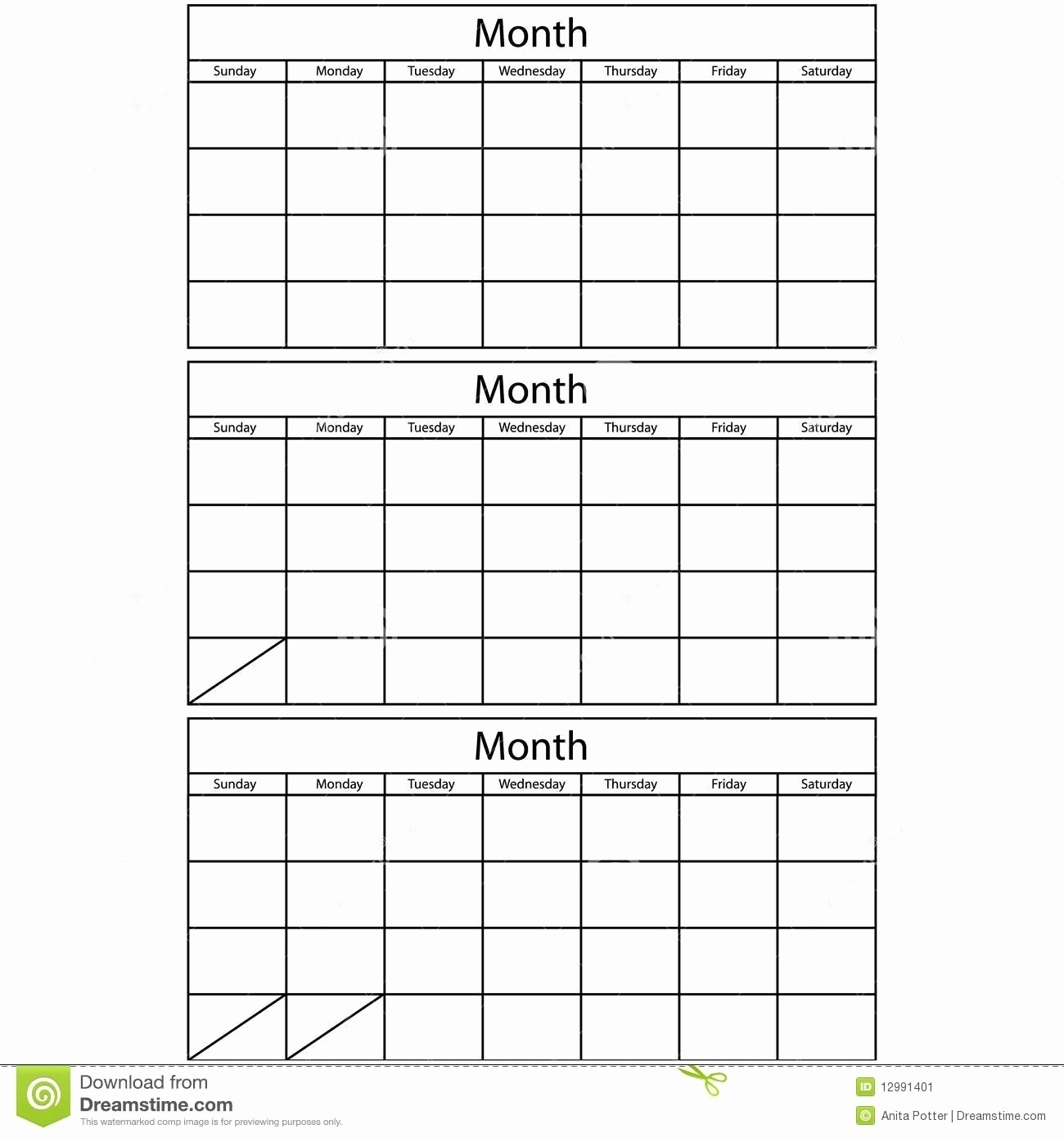 Blank Monthly Lanner Template Calendars To Rint Free Excel Download throughout 3 Month Calendar Printable Template