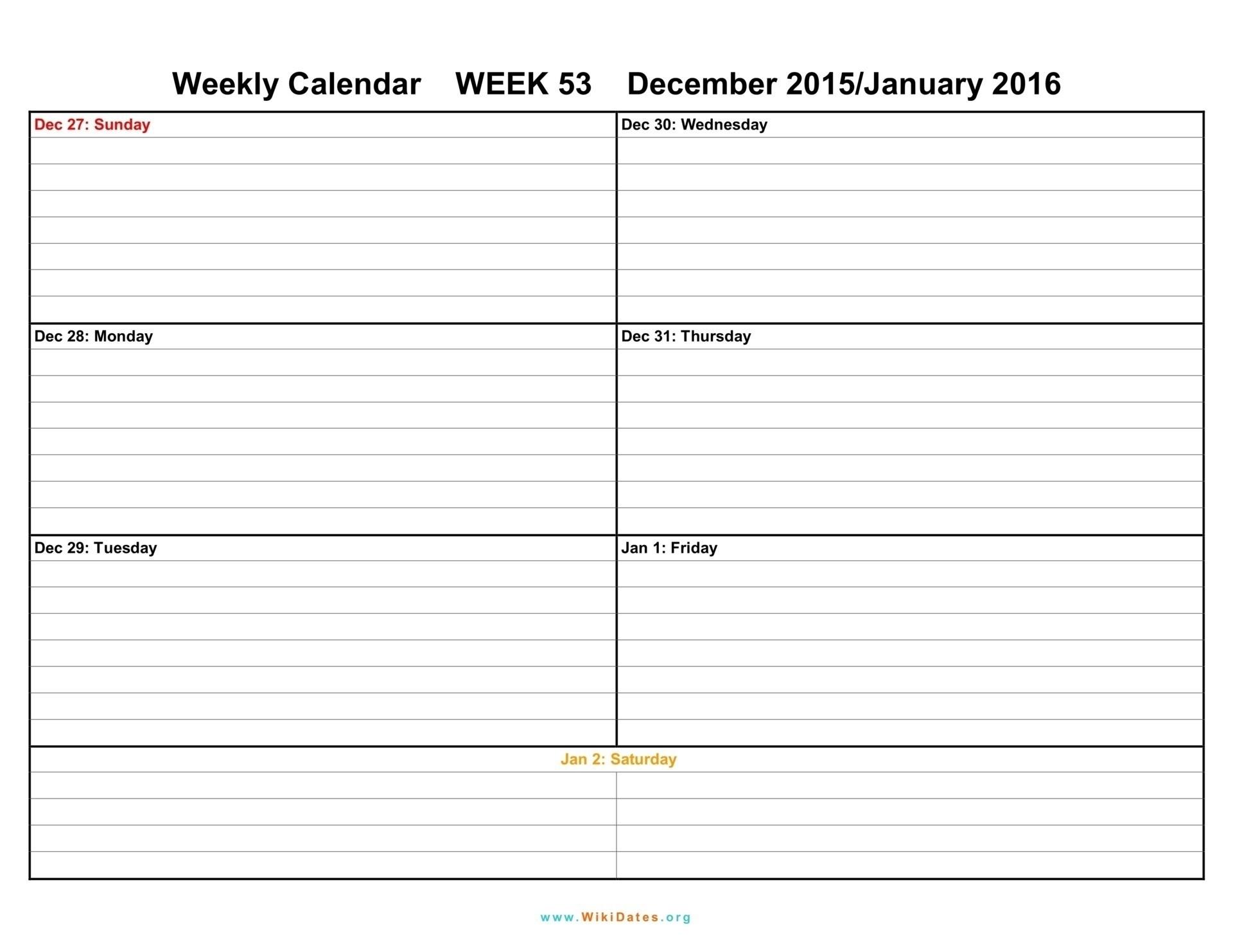 Blank Weekly Calendar Template Week Schedule Pdf Social With   Smorad pertaining to Printable Week By Week Schedule