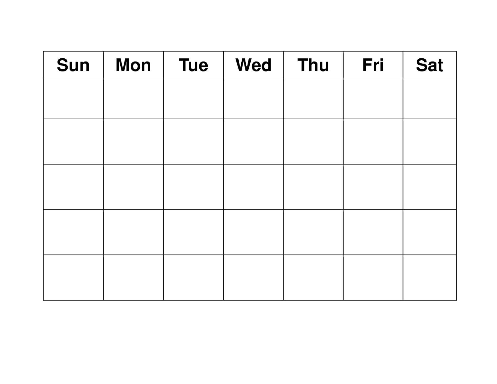 Blank Weekly Calendars Printable   Calendar Template Printable pertaining to Blank 4 Week Calendar Printable