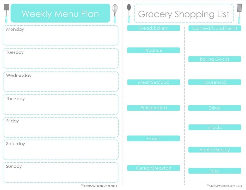 Blank Weekly Planner Printable Free Menu Printables N Calendar for Monthly Printable Blank Menus To Print