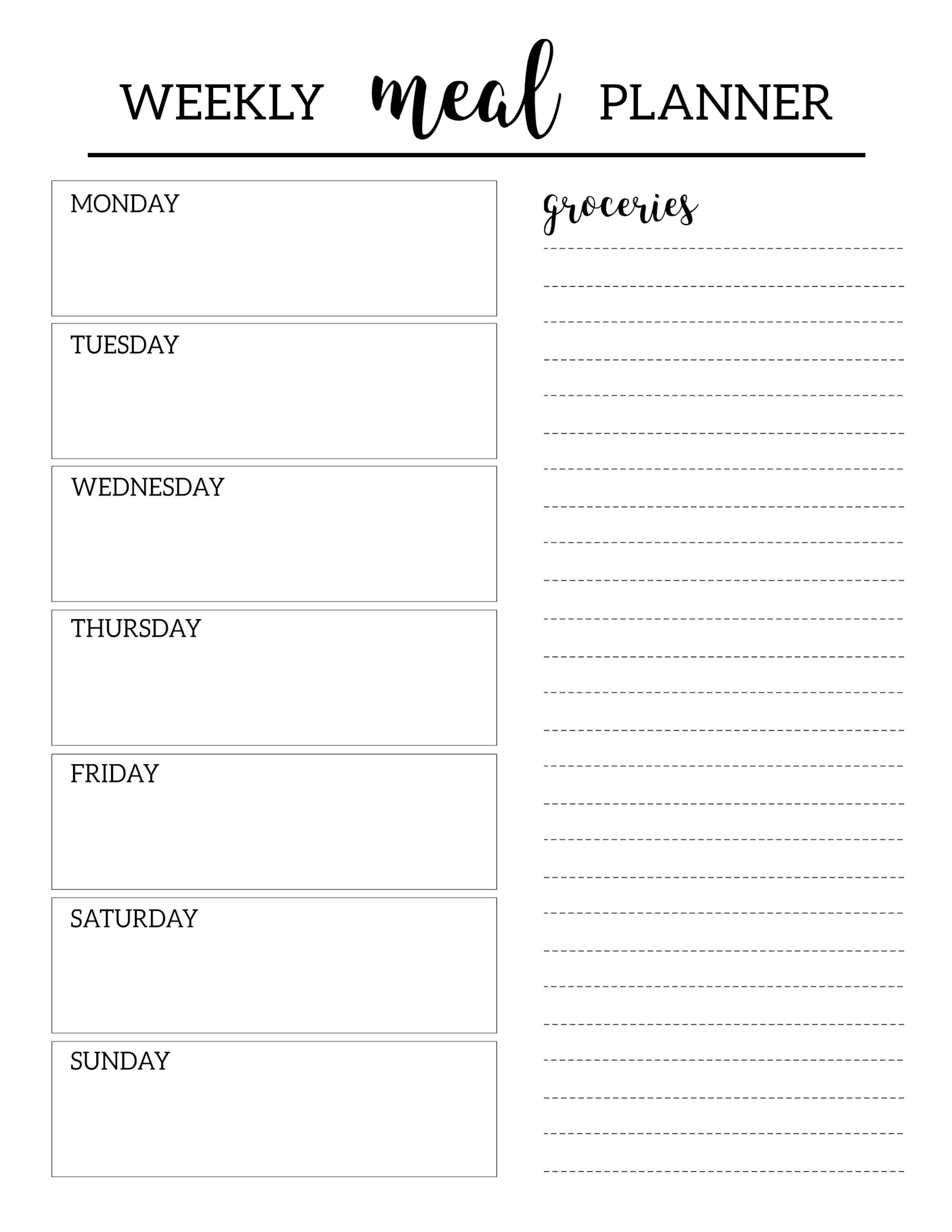 Blank Weekly Planner Printable Schedule Plate Free Daily Pages with Free Printable Weekly Planner Templates