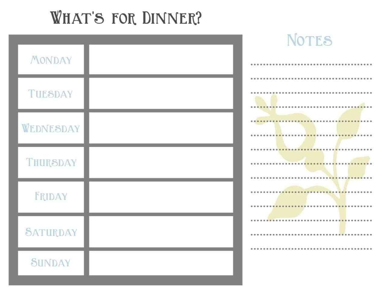Blank Weekly Planner Shefftunes Tk Ay Template Printable Menu Word intended for 7 Day Weekly Planner Template Printable